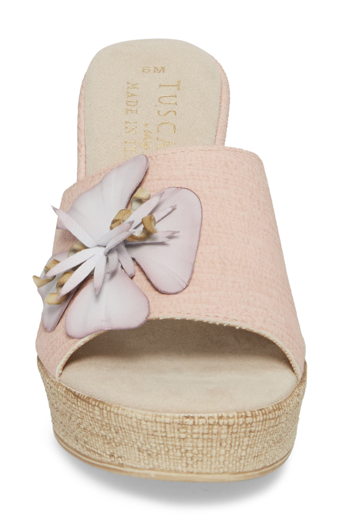 by Easy Street<sup>®</sup> Castello Wedge Slide,                             Alternate thumbnail 4, color,                             BLUSH FAUX LEATHER