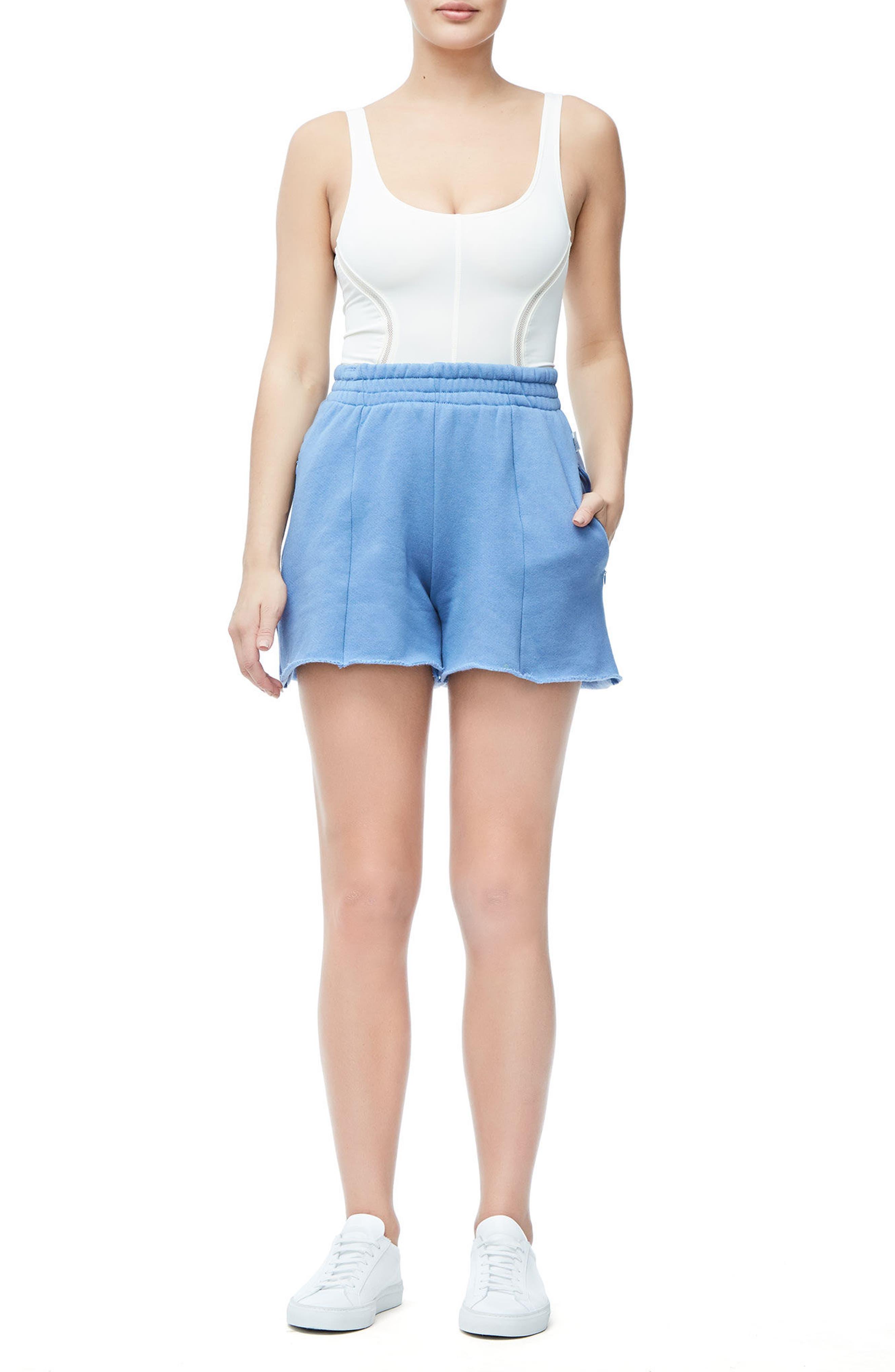 Wide Leg Sweat Shorts,                             Alternate thumbnail 6, color,                             401