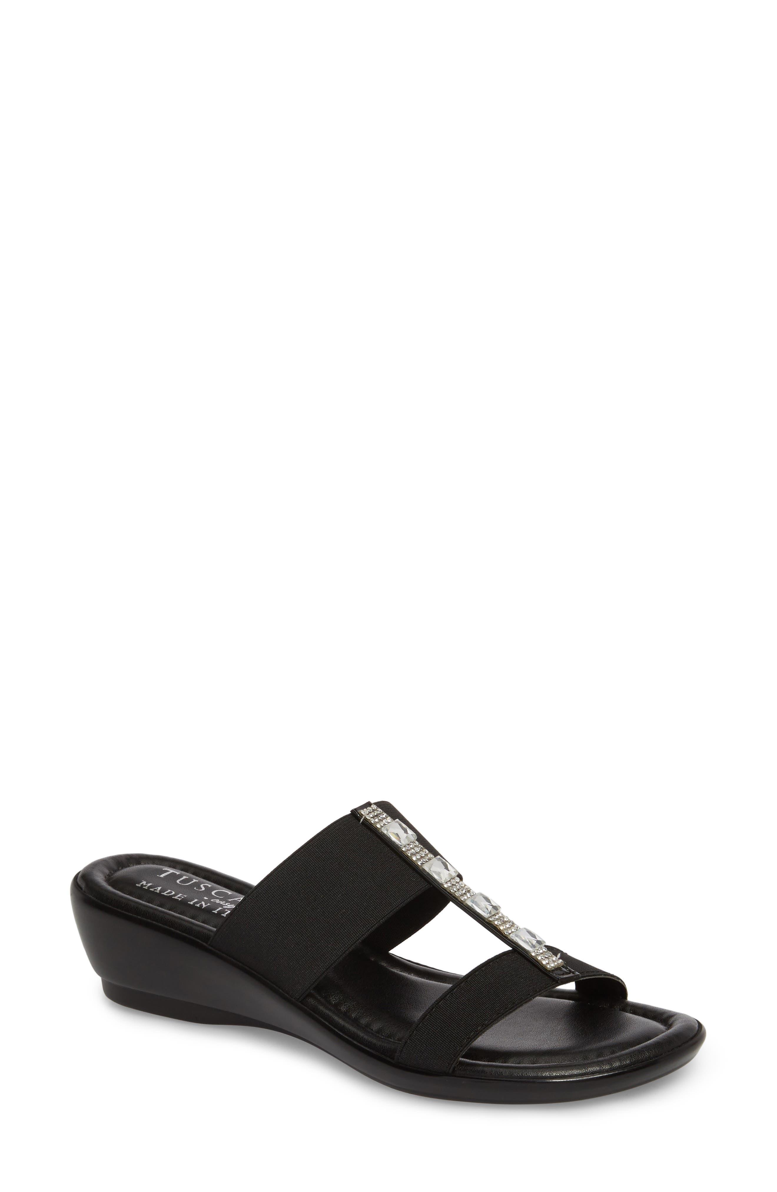 by Easy Street<sup>®</sup> Elba Embellished Slide Sandal,                         Main,                         color,
