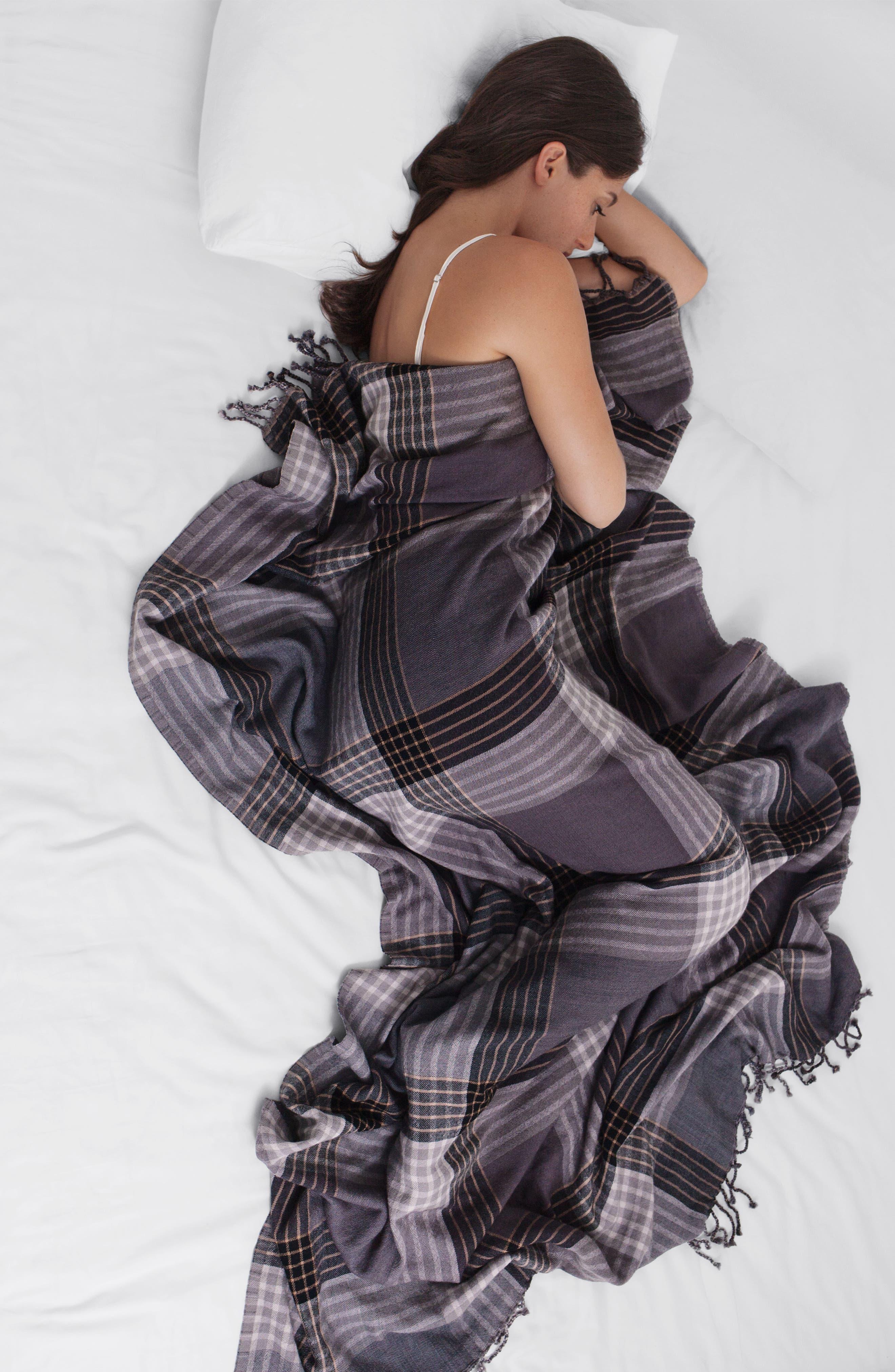 MODERN STAPLES,                             Plaid Double Face Merino Wool Throw,                             Alternate thumbnail 4, color,                             060