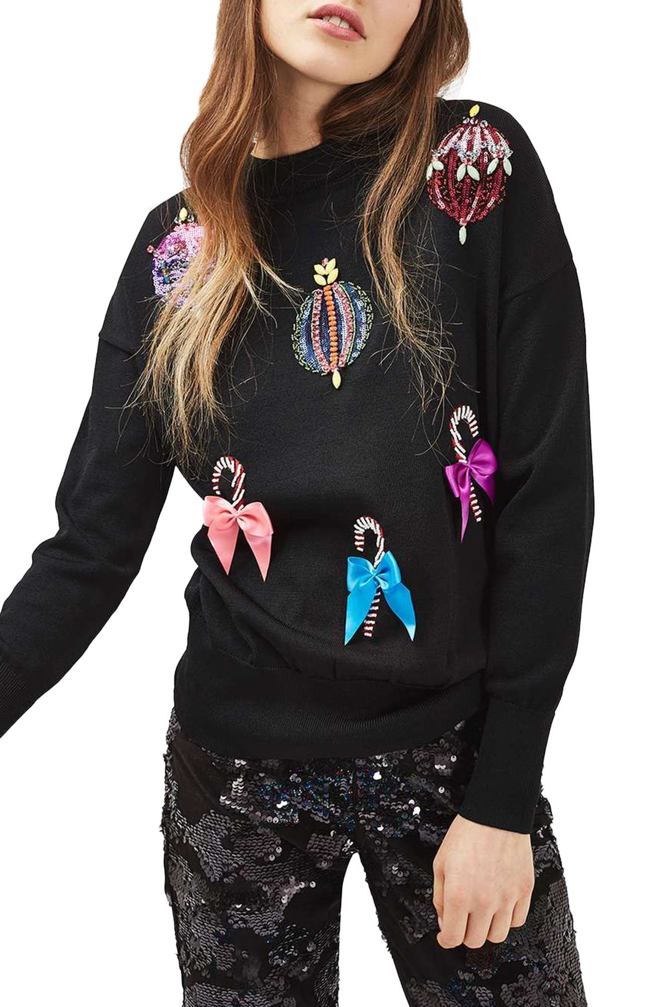 Christmas Ornament Sweater, Main, color, 001