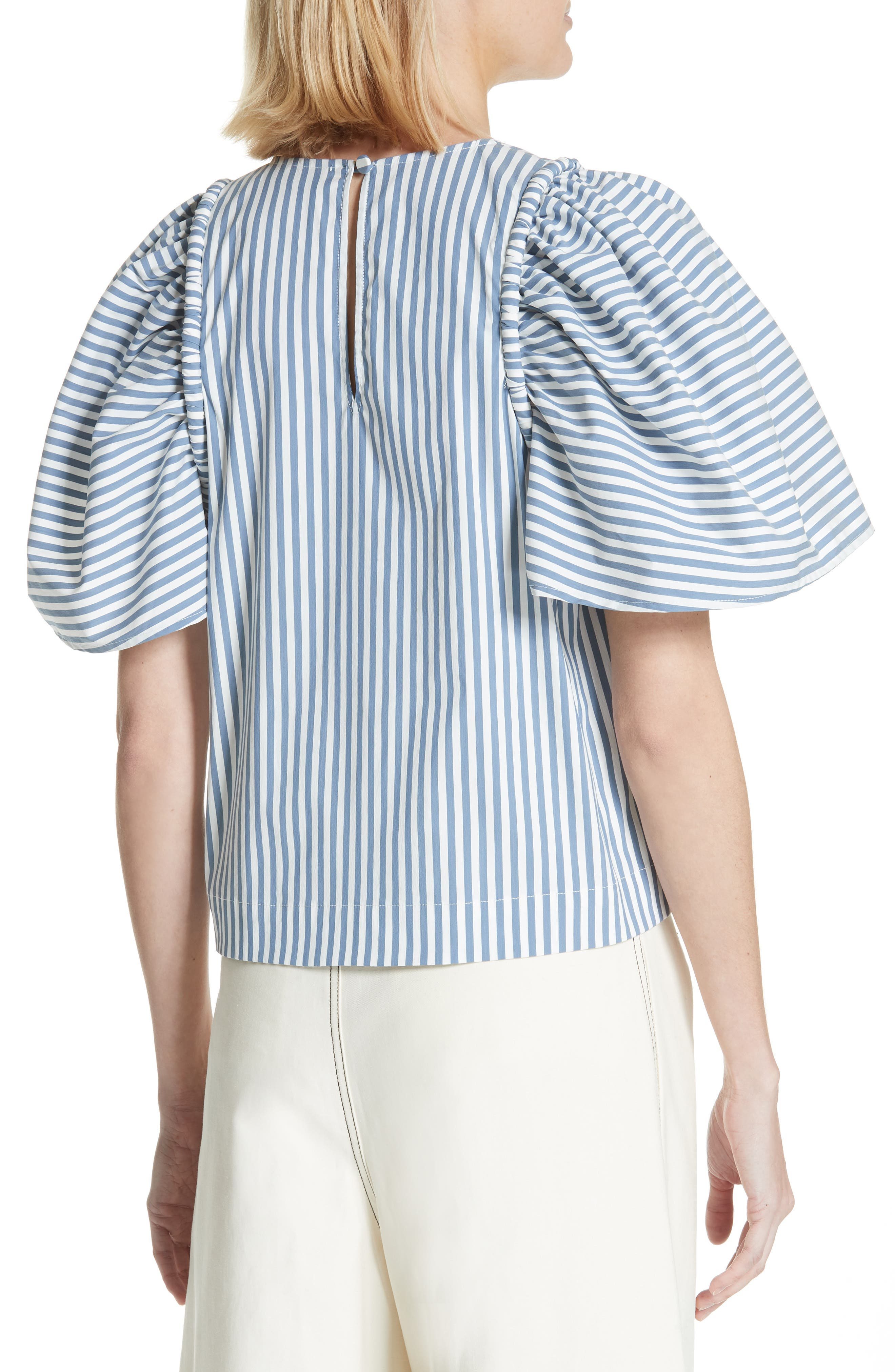 Riviera Corded Puff Sleeve Blouse,                             Alternate thumbnail 2, color,                             105