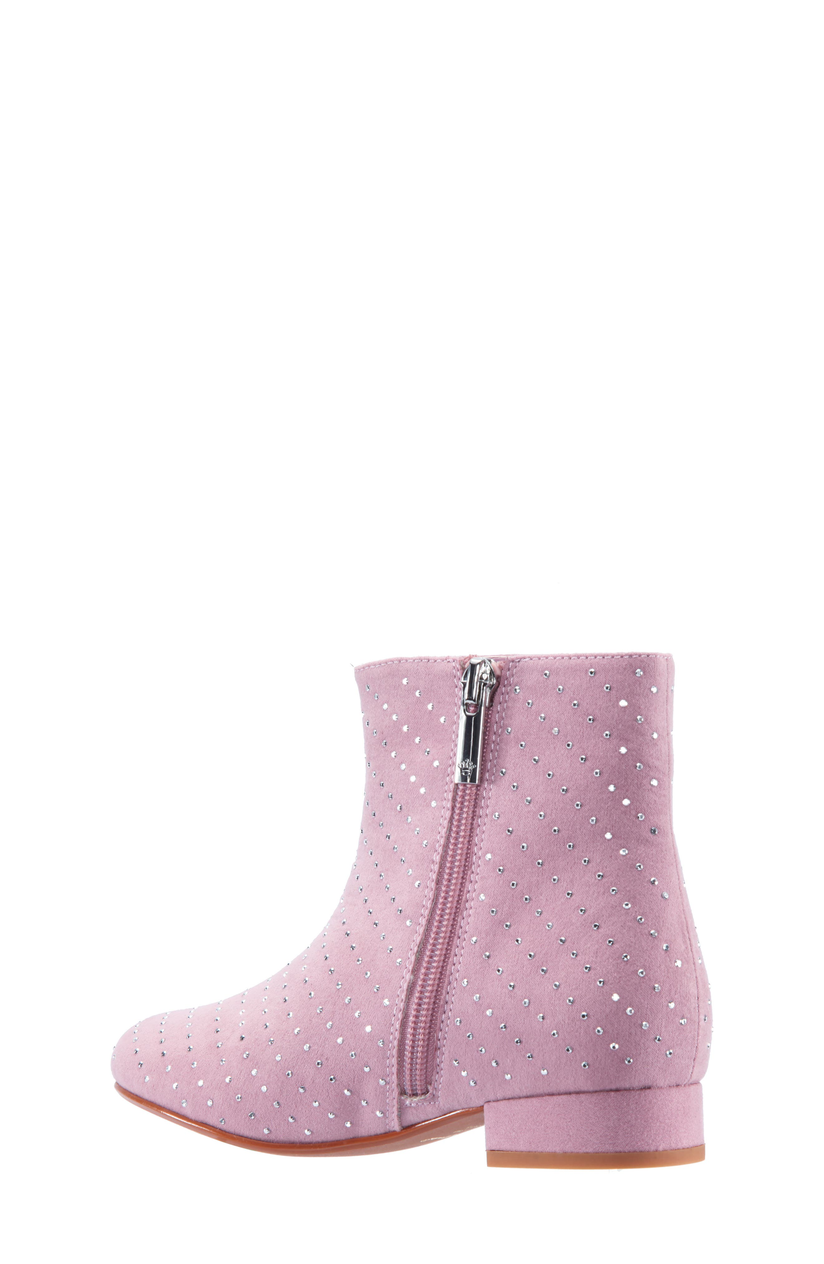 Peaches Studded Bootie,                             Alternate thumbnail 2, color,                             PINK MICRO SUEDE