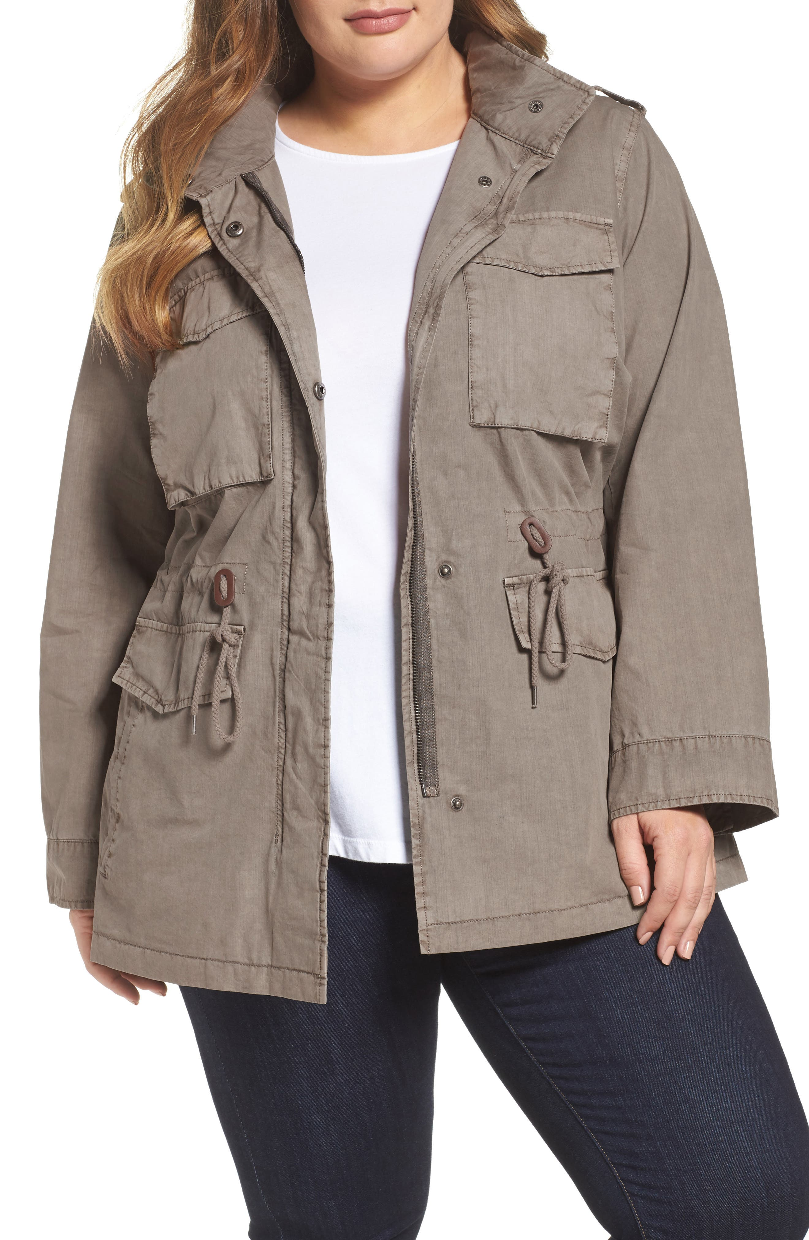 Cotton Military Jacket,                         Main,                         color, 033