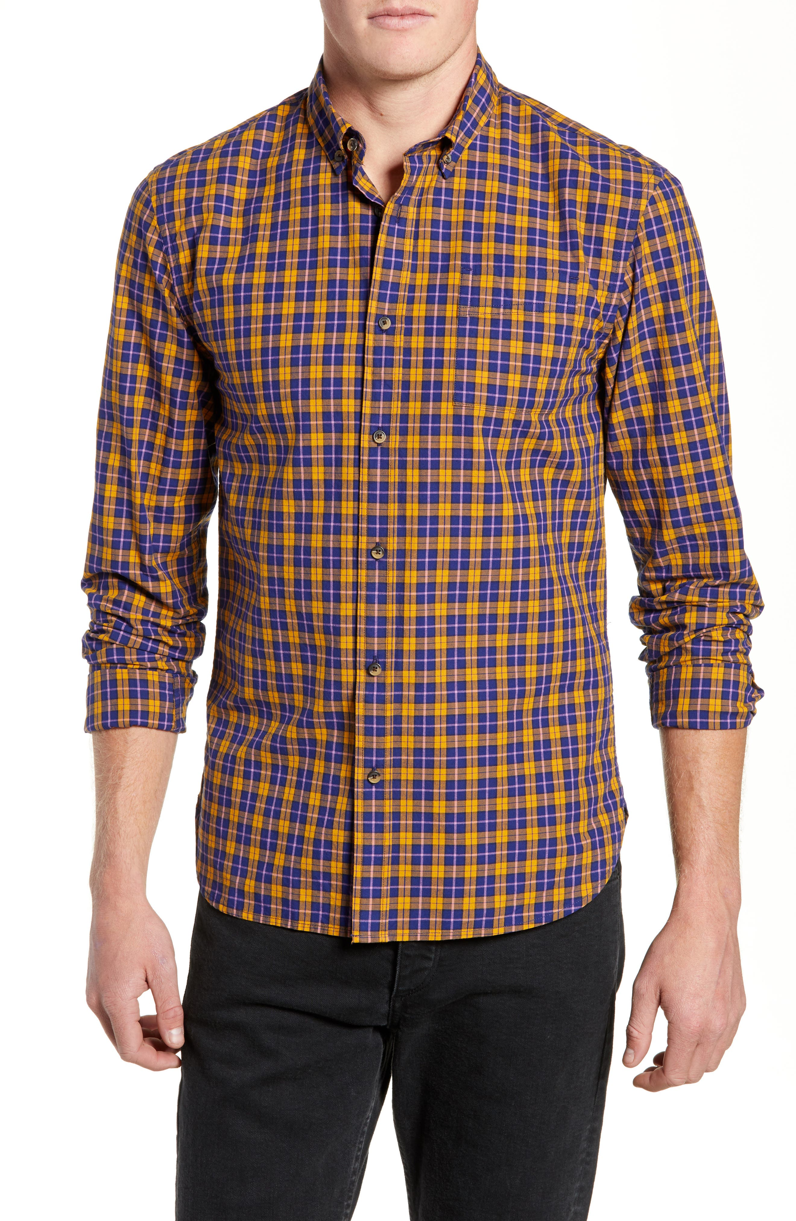 Check Sport Shirt,                         Main,                         color, COMBO A