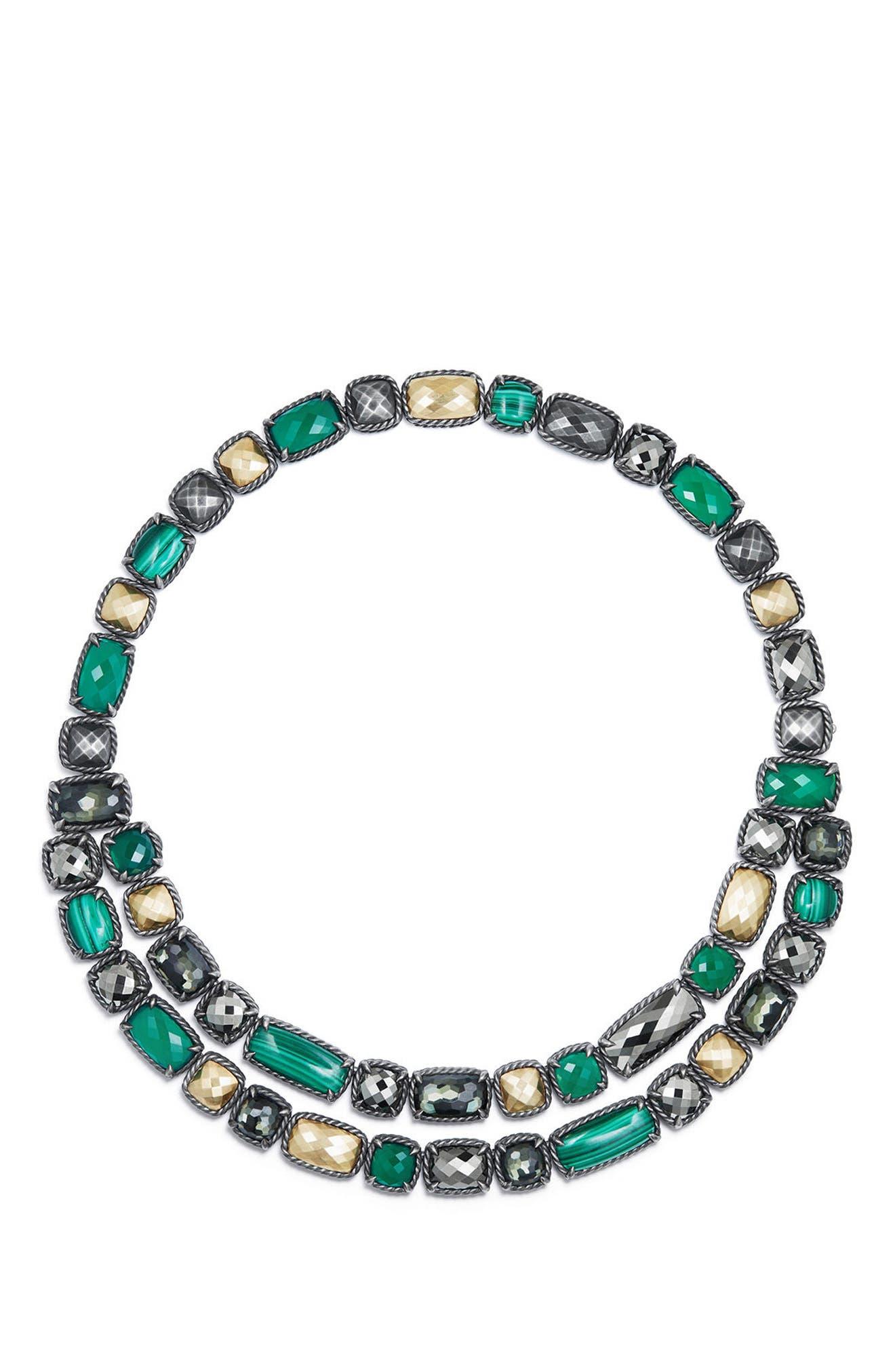 Chatelaine<sup>®</sup> Mosaic Necklace,                             Main thumbnail 1, color,                             MALACHITE