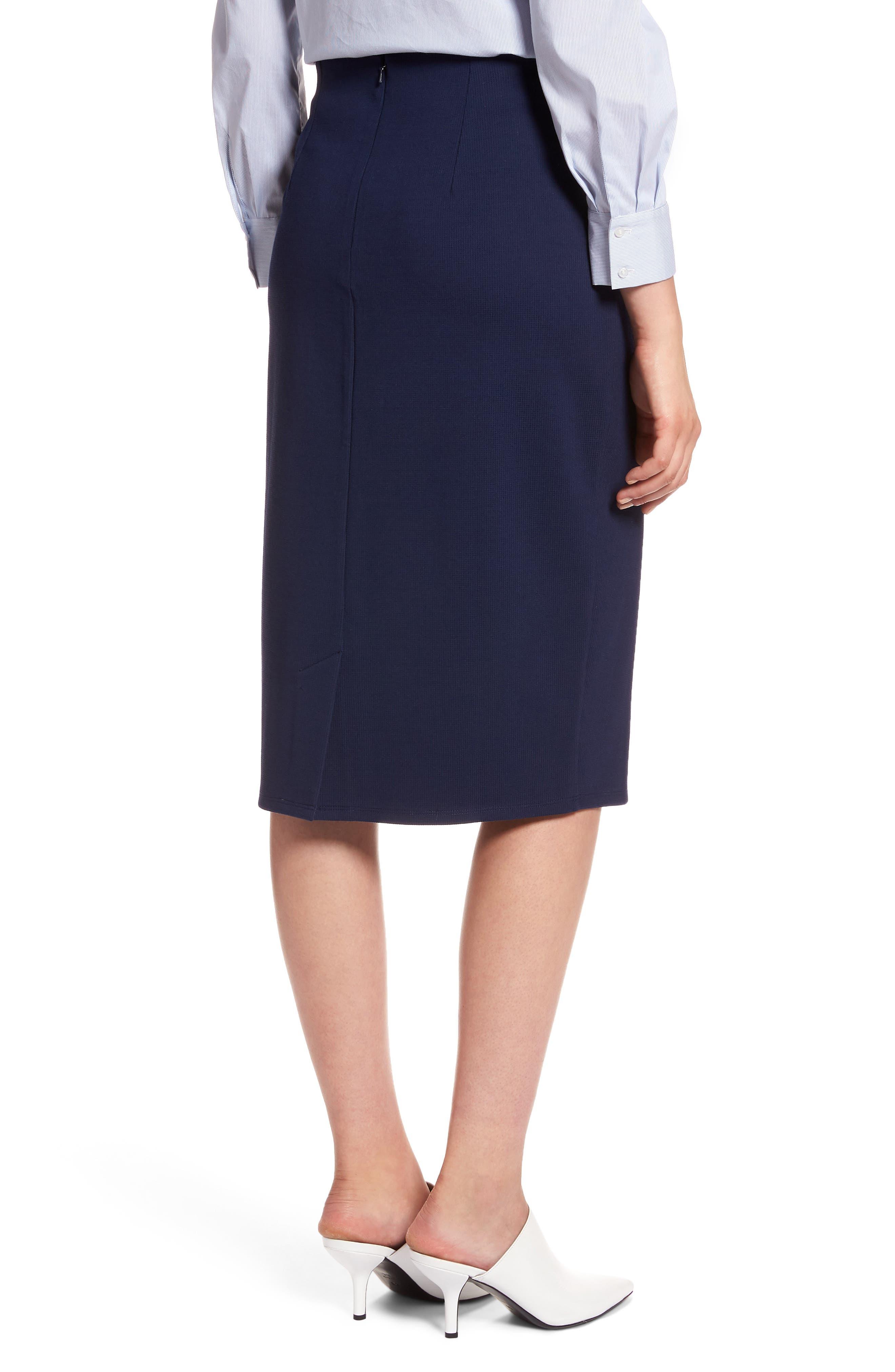 Textured Ponte Pencil Skirt,                             Alternate thumbnail 2, color,                             410
