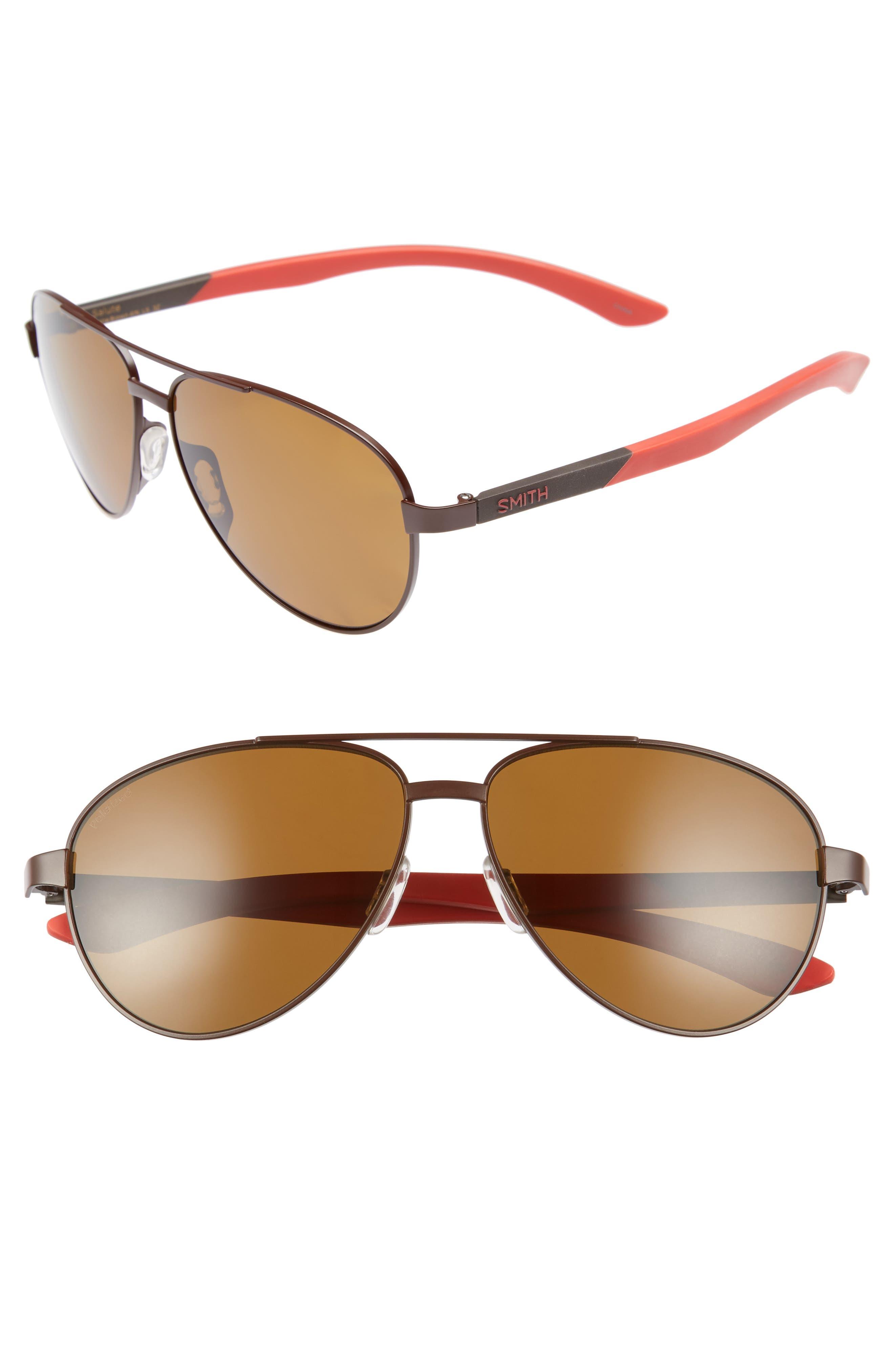 Salute 59mm Polarized Aviator Sunglasses,                         Main,                         color, 200