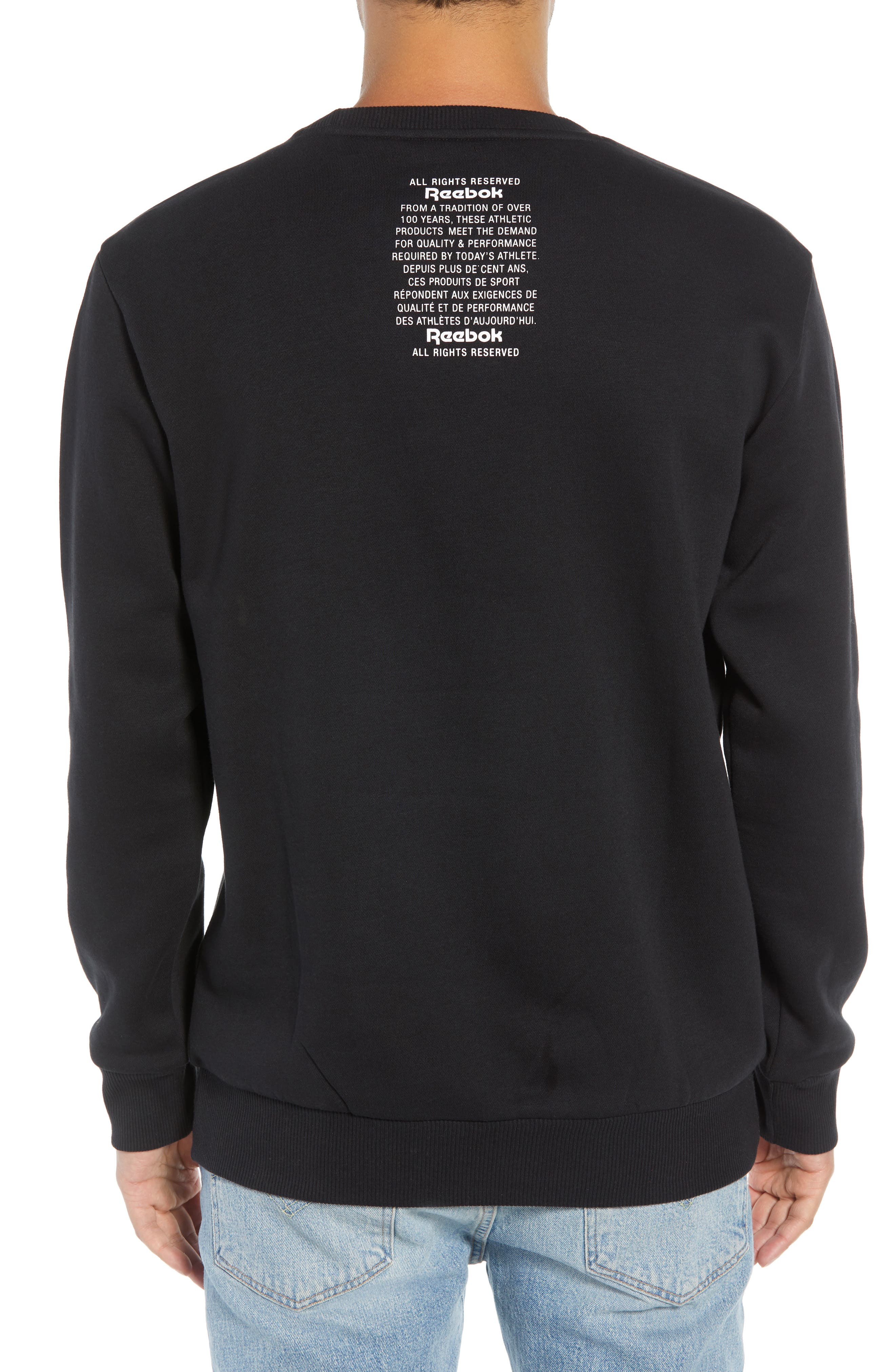 Crewneck Logo Sweatshirt,                             Alternate thumbnail 2, color,                             BLACK