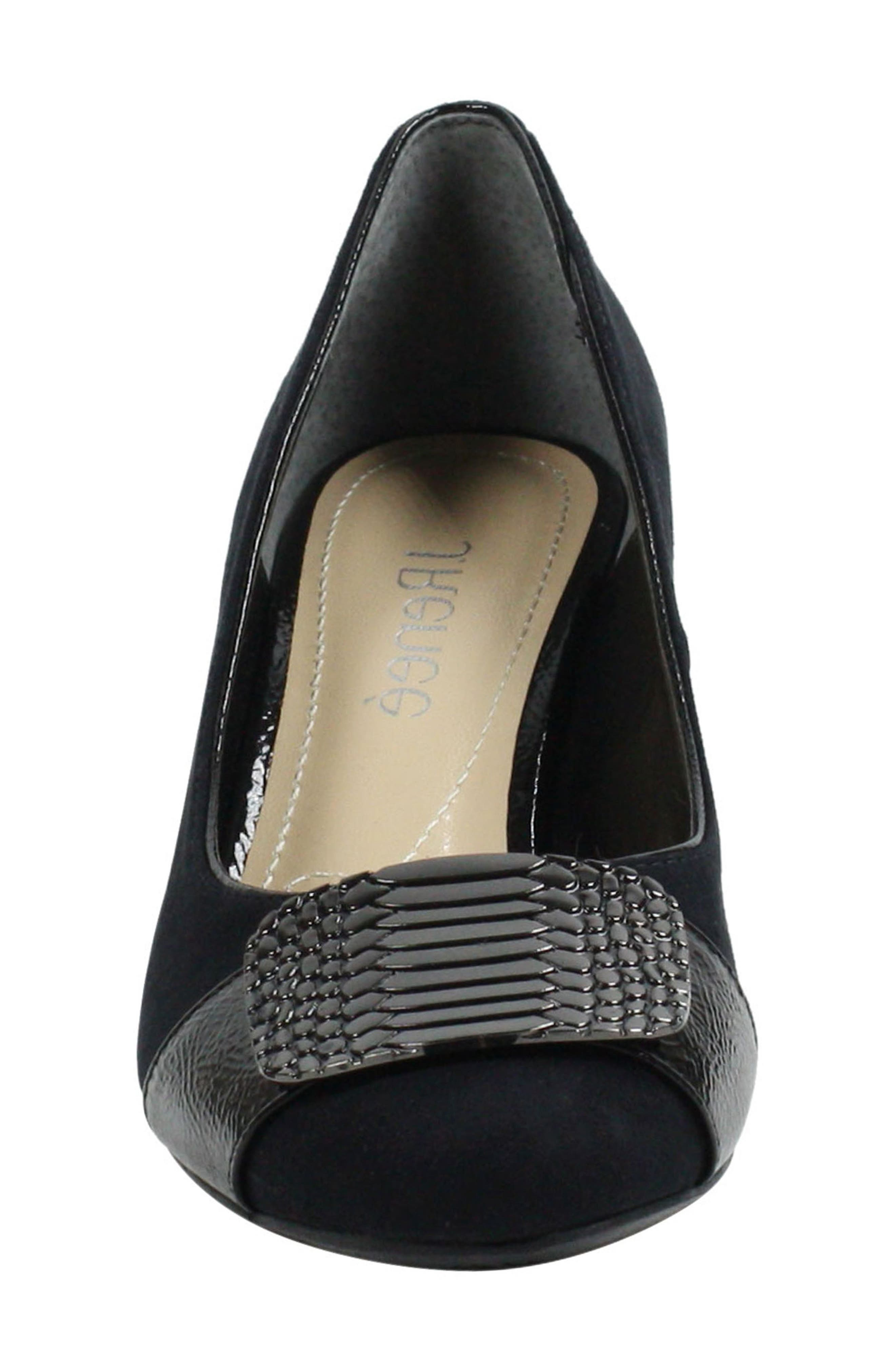 Langeley Pump,                             Alternate thumbnail 4, color,                             BLACK FABRIC