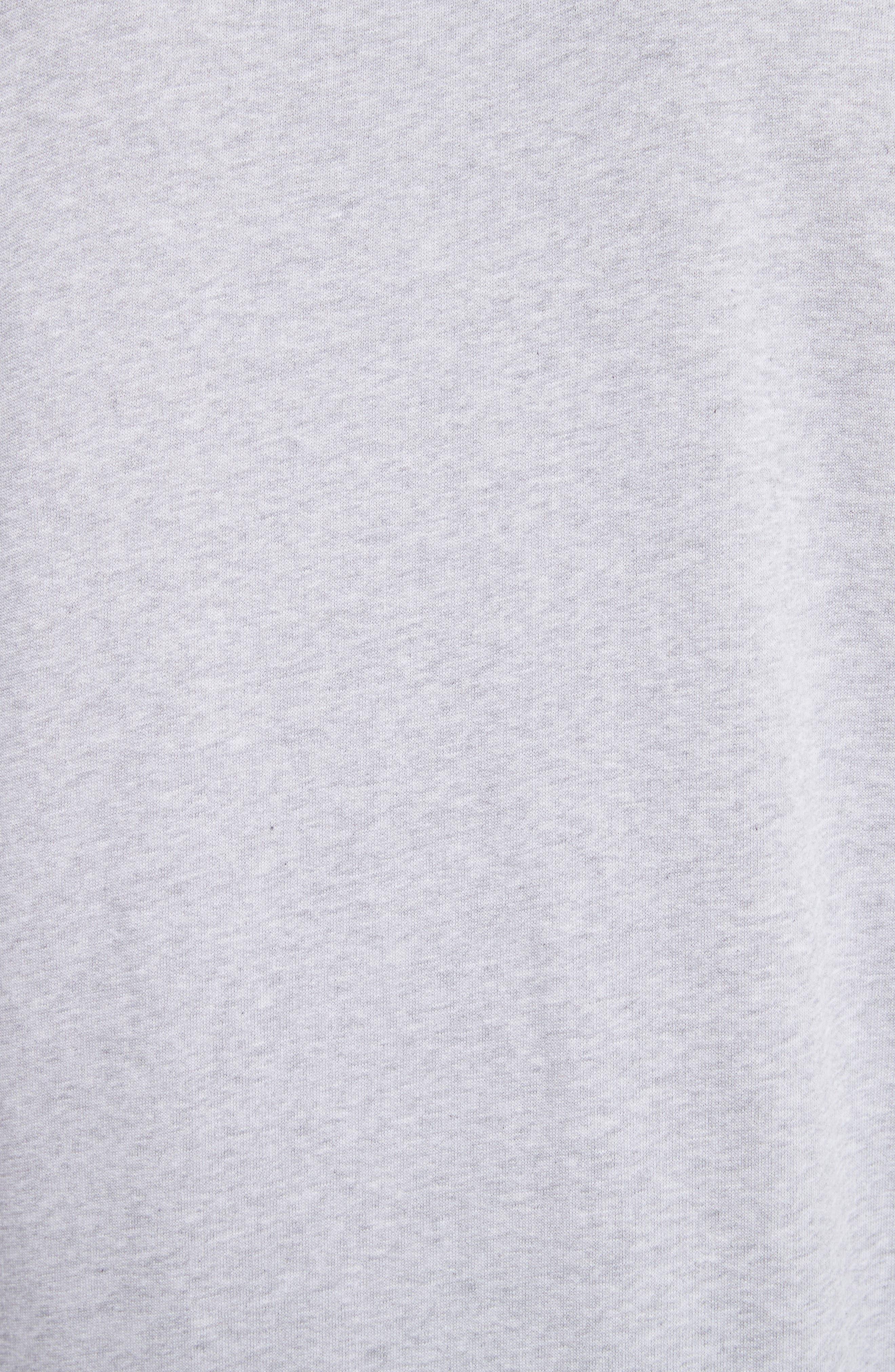 Zip Sleeve Crewneck Sweatshirt,                             Alternate thumbnail 5, color,                             GREY