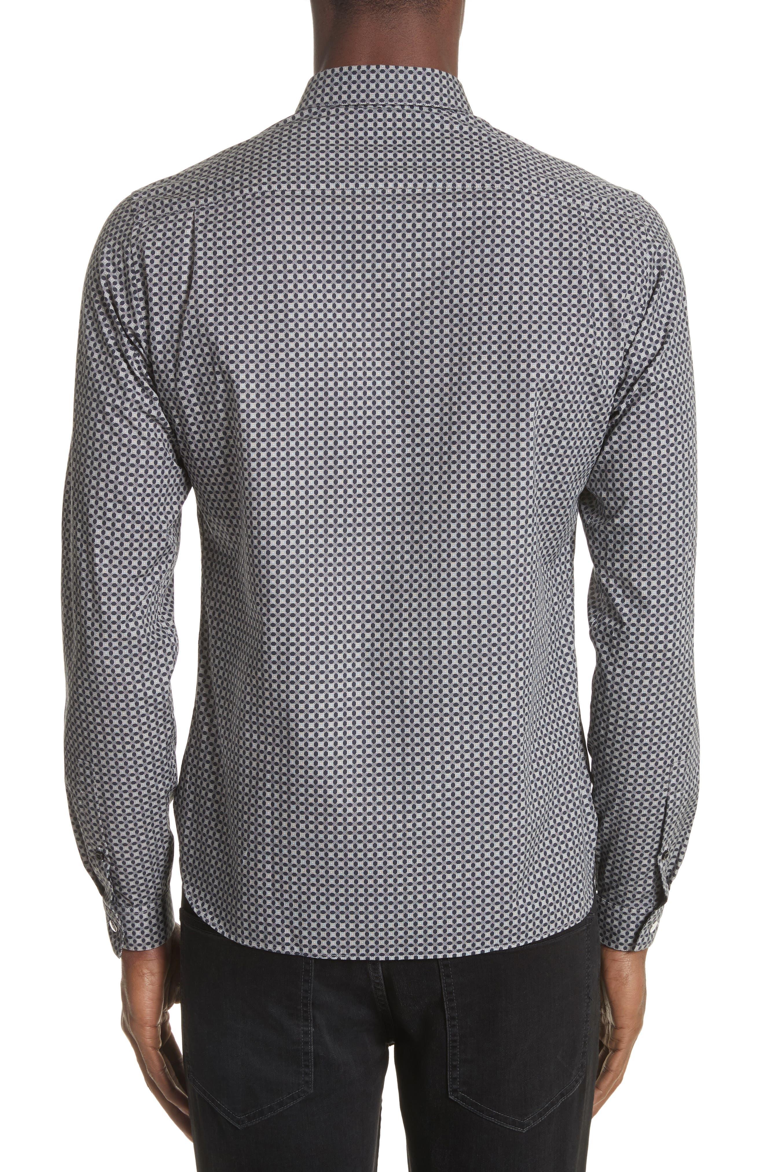 Geometric Print Woven Shirt,                             Alternate thumbnail 2, color,                             020