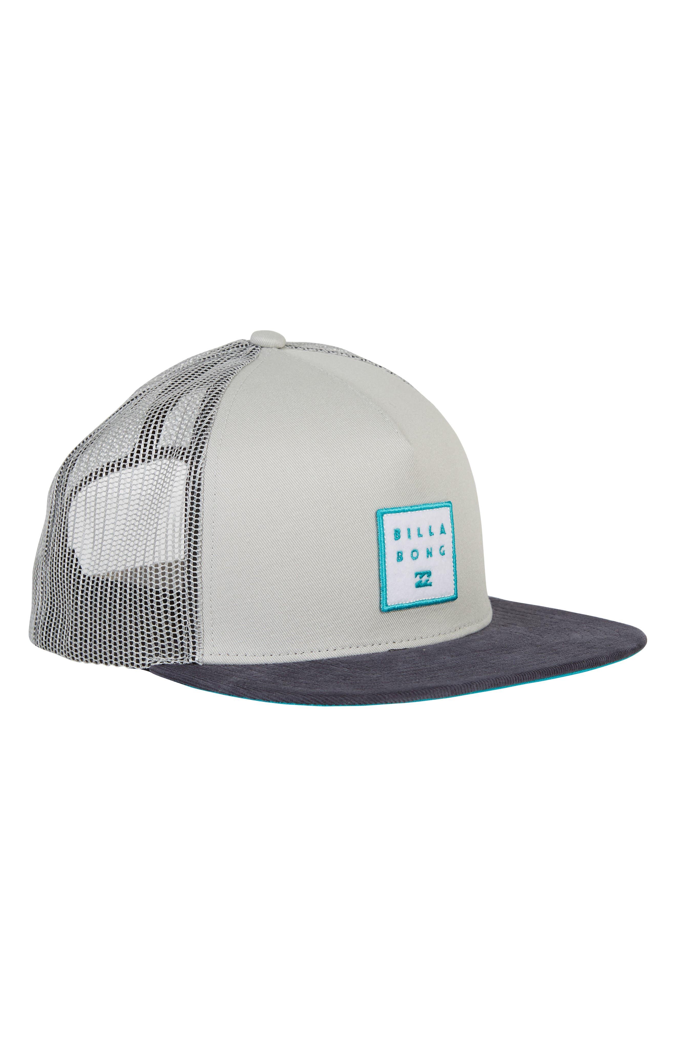 Stacked Trucker Hat,                             Alternate thumbnail 3, color,                             LIGHT GREY