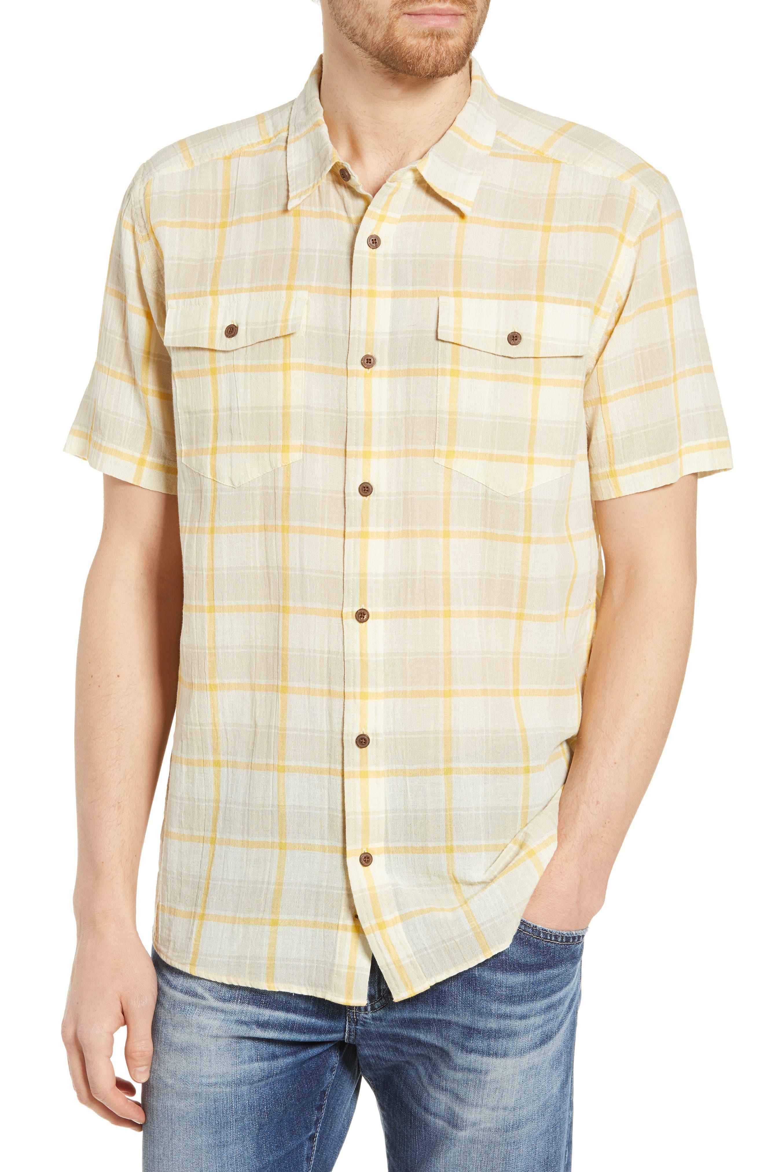 Patagonia Steersman Regular Fit Plaid Shirt, Yellow