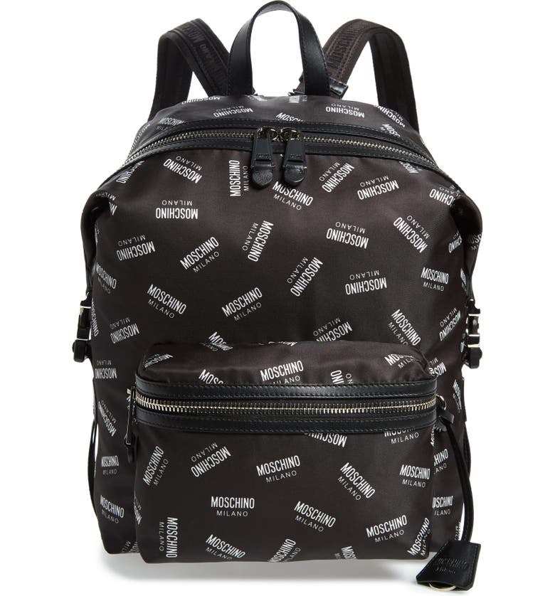 663eb7dff3 Moschino Allover Logo Print Backpack