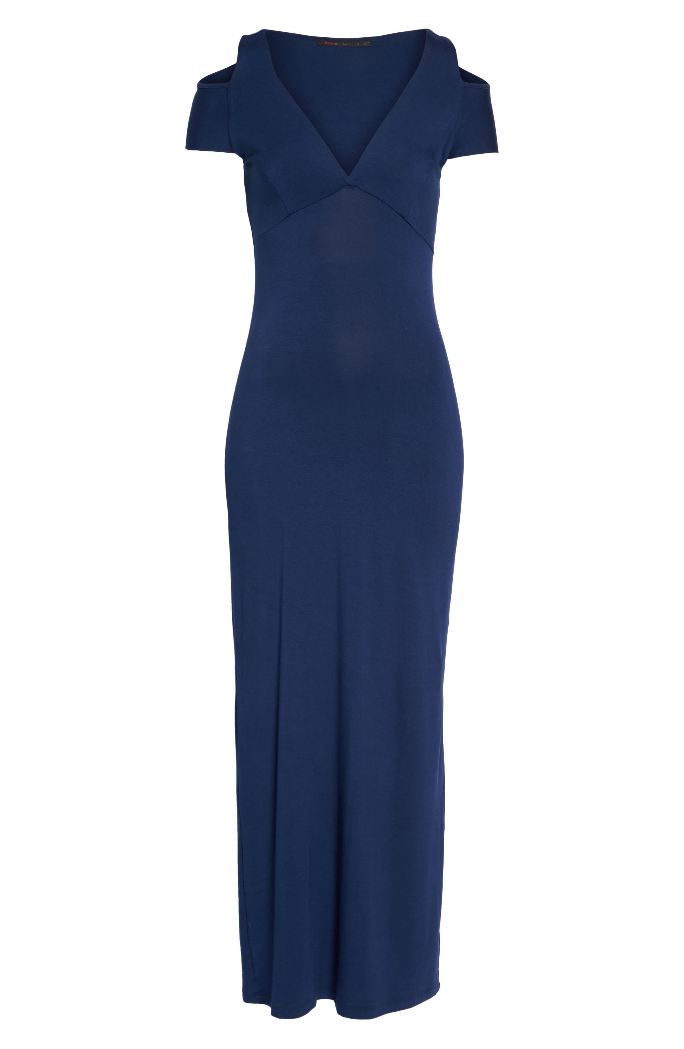 Cold Shoulder Maxi Dress,                             Alternate thumbnail 6, color,
