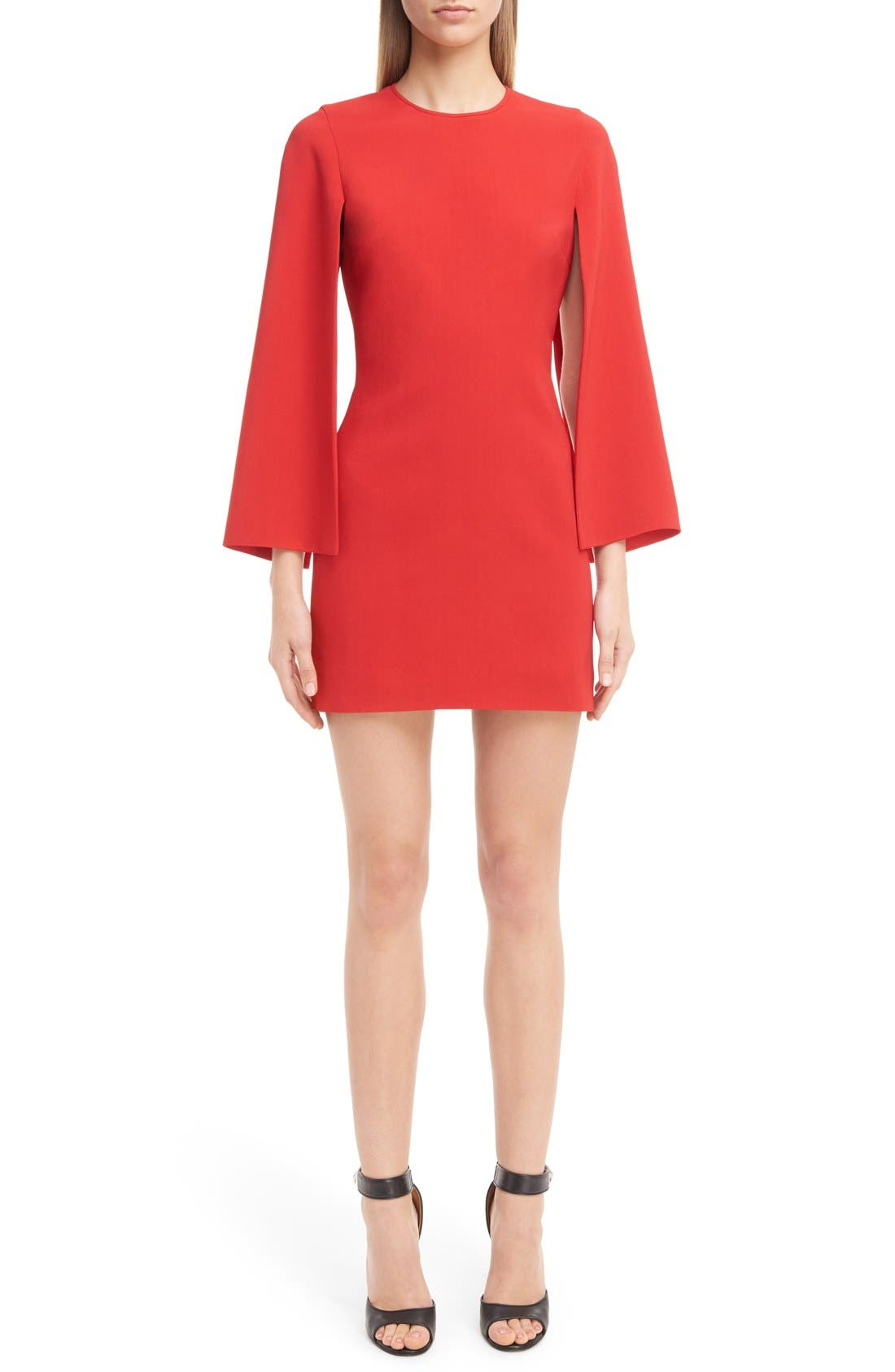 GIVENCHY Cape Sleeve Dress, Main, color, 600