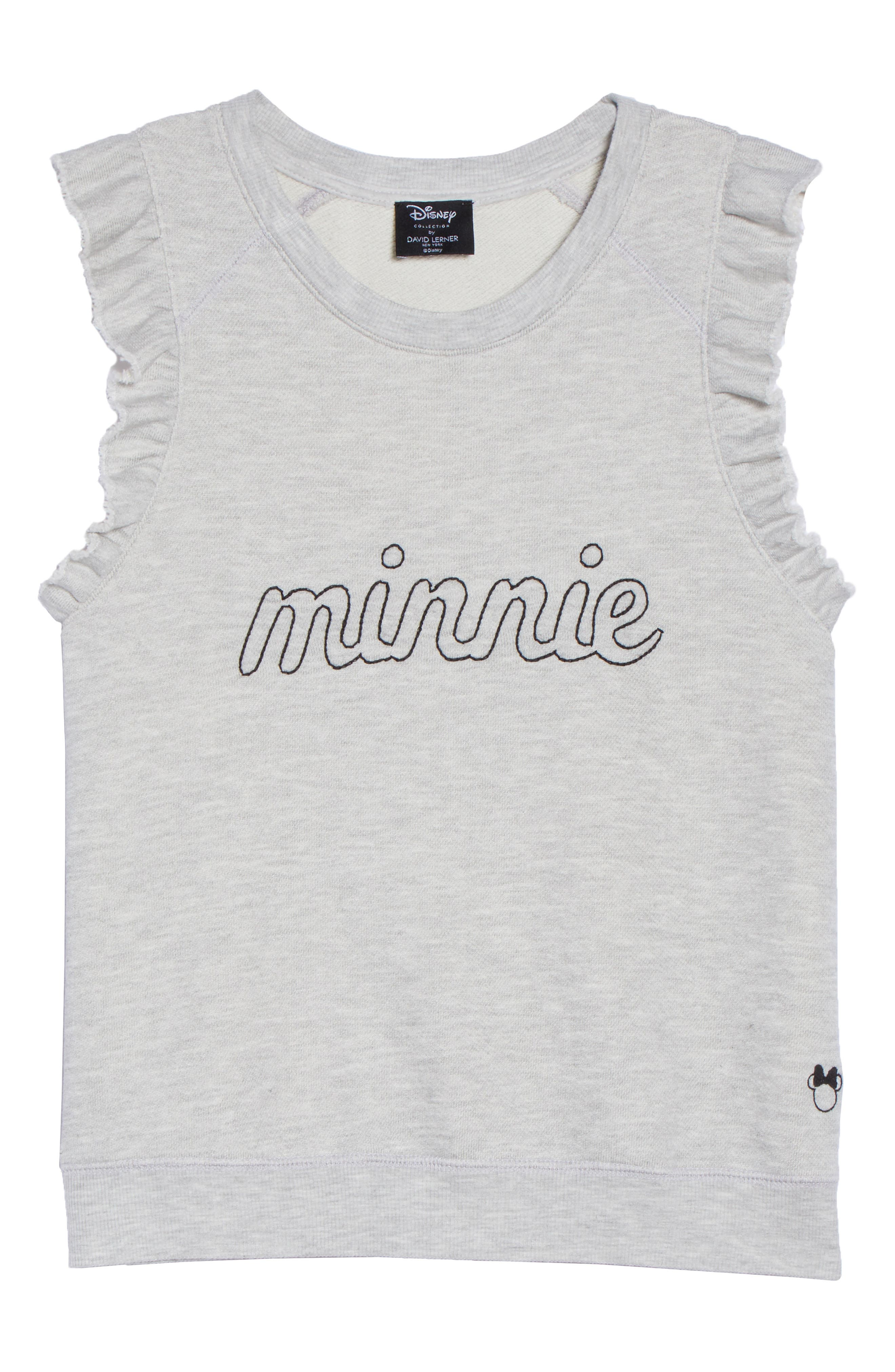 Minnie Ruffle Tank,                             Alternate thumbnail 6, color,                             HEATHER GREY