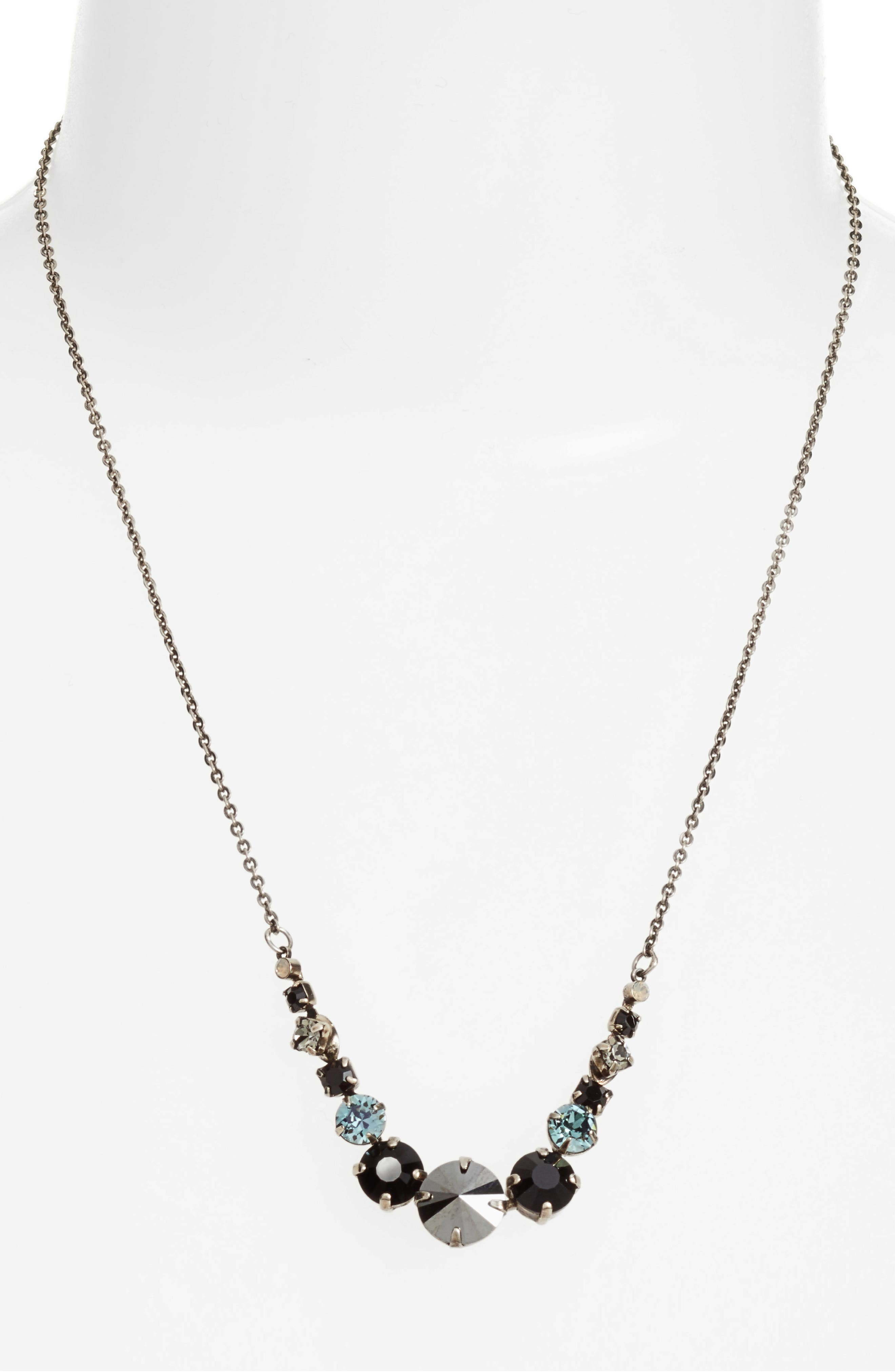 Crystal Collar Necklace,                             Alternate thumbnail 2, color,                             001