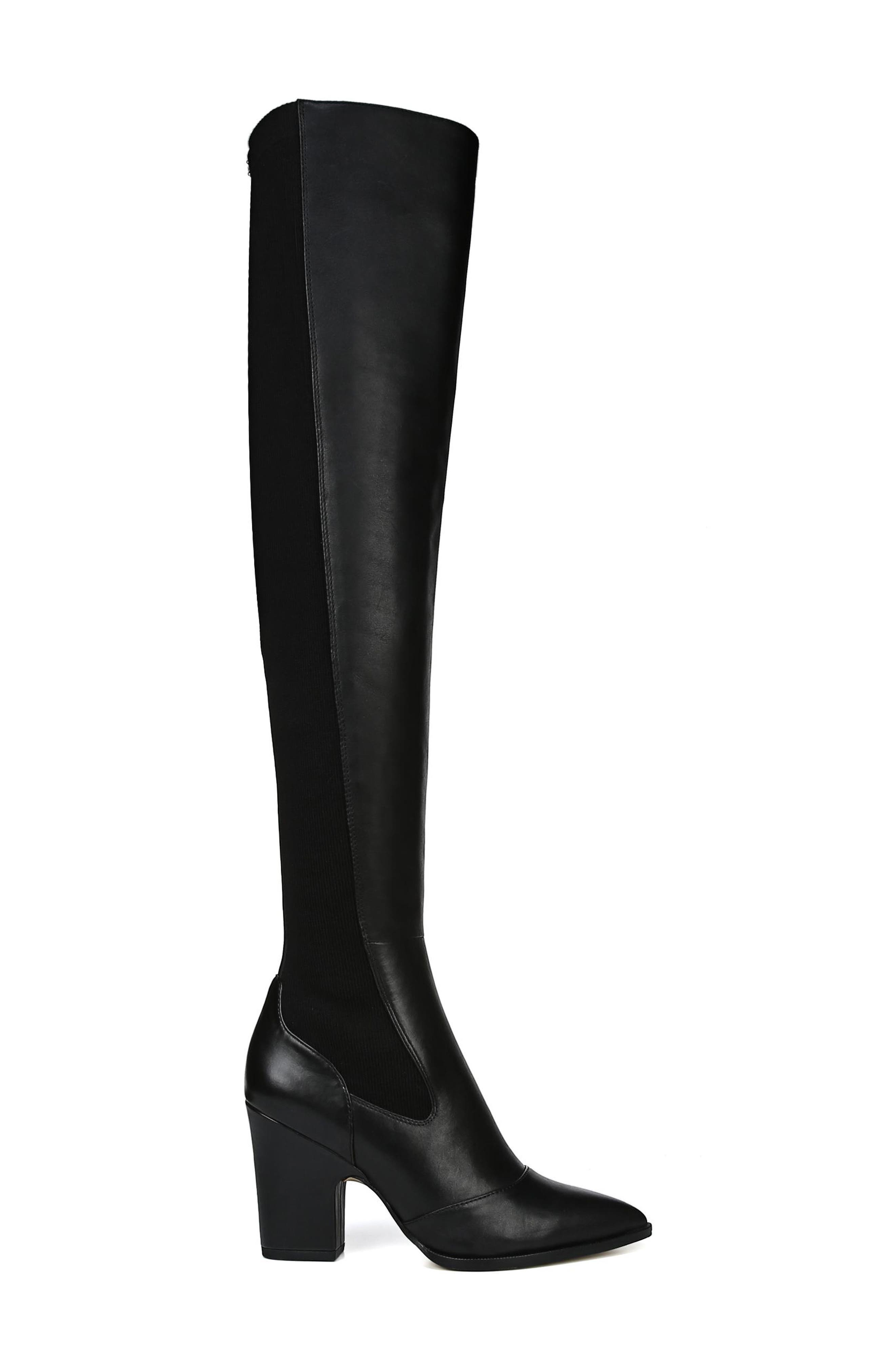 Natasha Over the Knee Boot,                             Alternate thumbnail 3, color,                             BLACK LEATHER