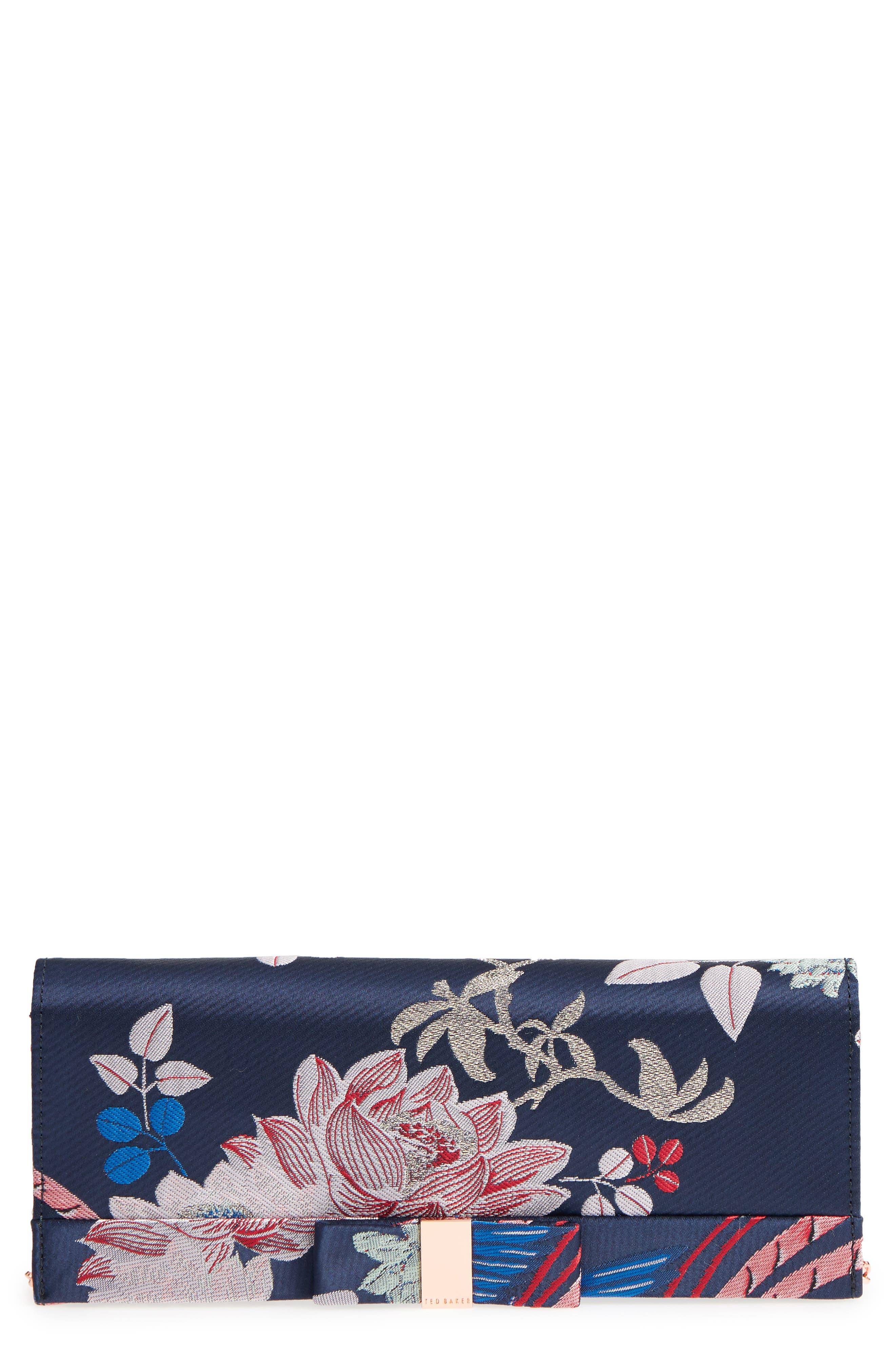 Bow Satin Evening Bag,                         Main,                         color, 410