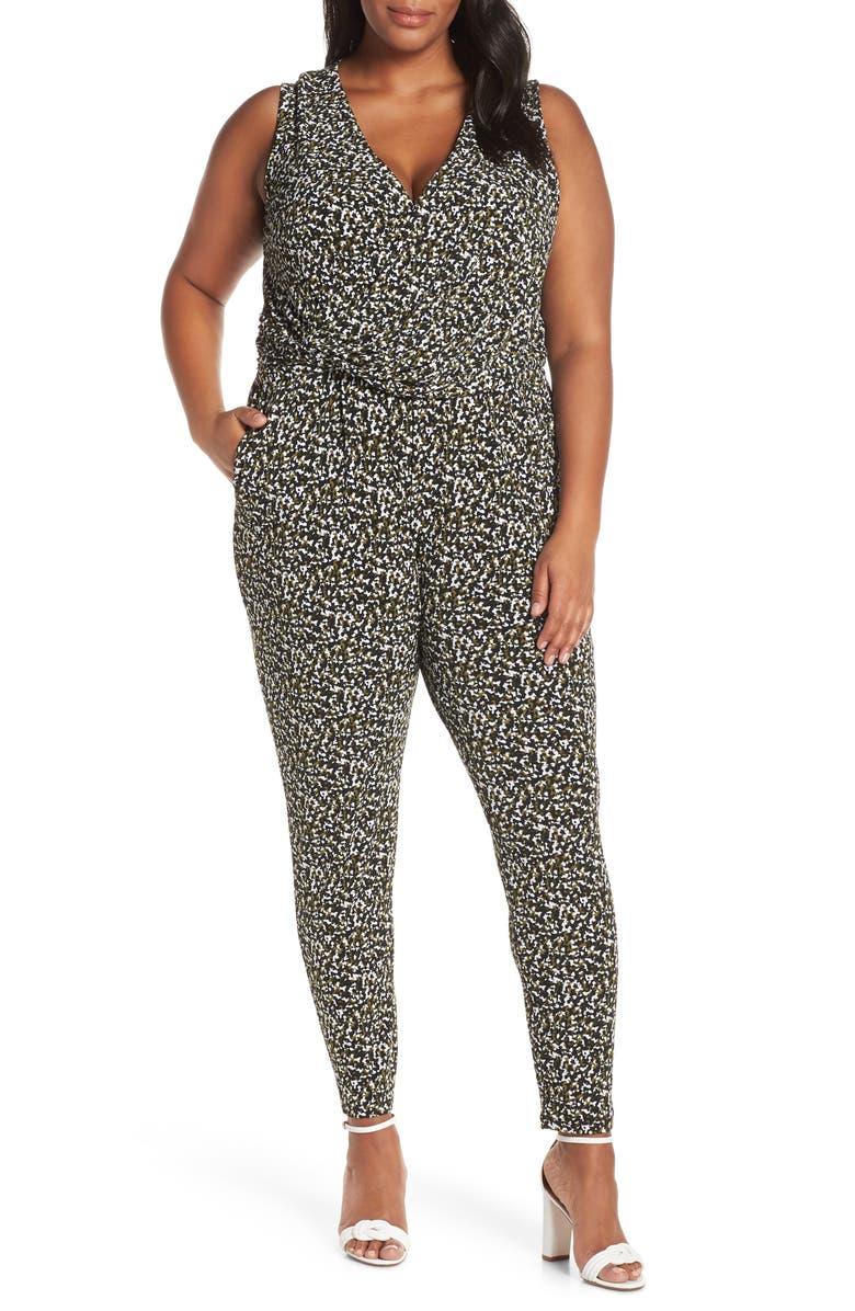 0f9efbf69ae MICHAEL Michael Kors Camo Twist Waist Jumpsuit (Plus Size)