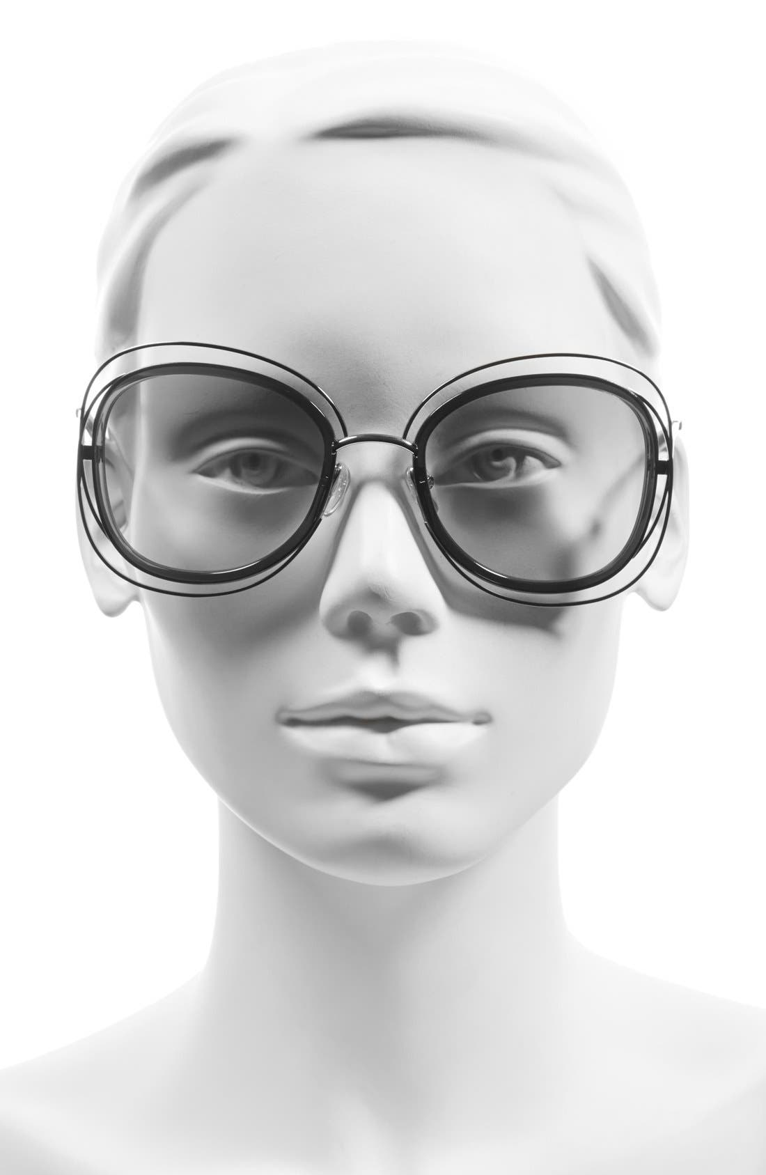 'Carlina' 56mm Gradient Sunglasses,                             Alternate thumbnail 6, color,