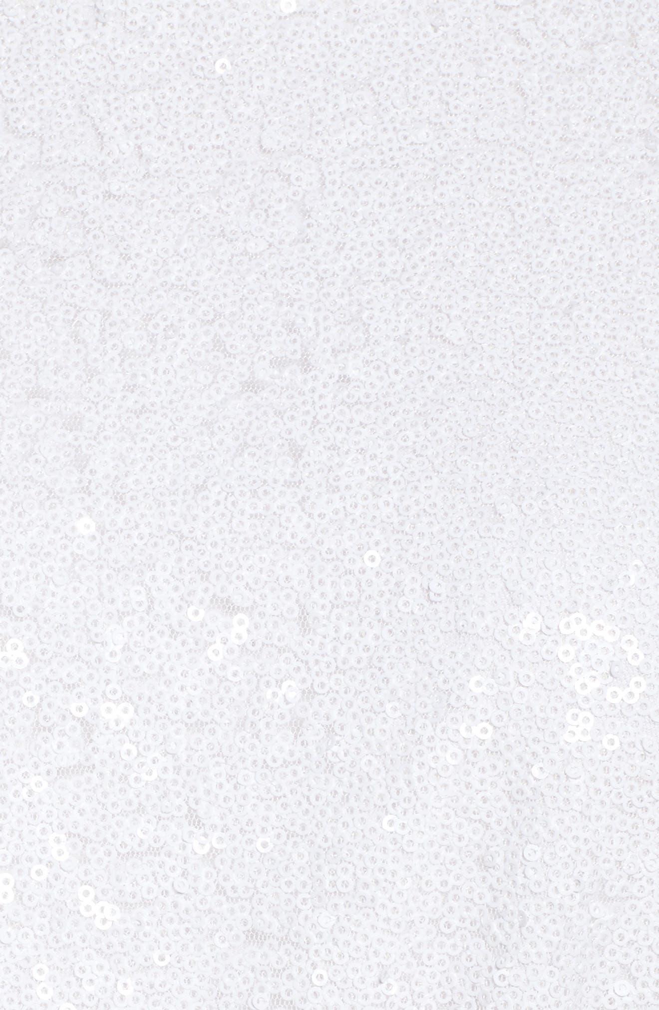 Aria Sequin Skater Dress,                             Alternate thumbnail 5, color,                             101