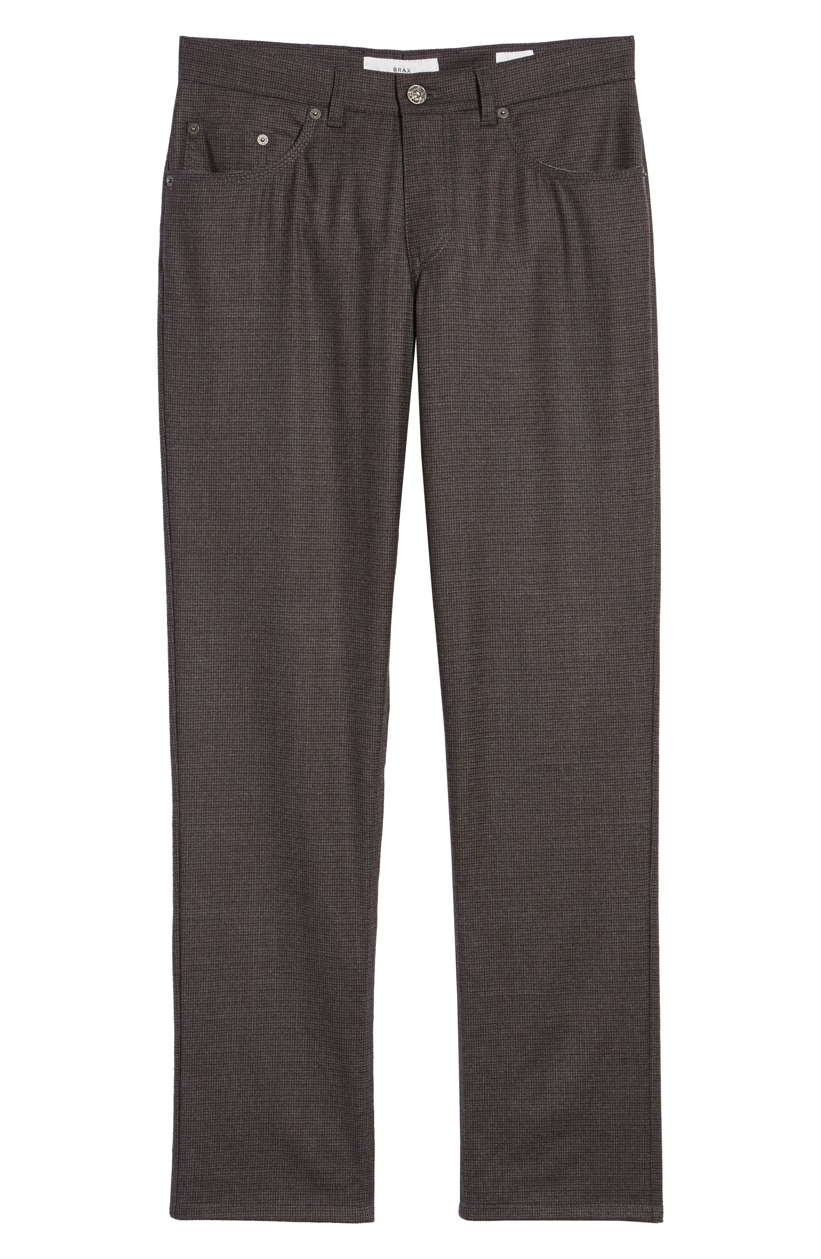 Cadiz Five Pocket Stretch Wool Trousers,                             Alternate thumbnail 6, color,                             ANTHRACITE