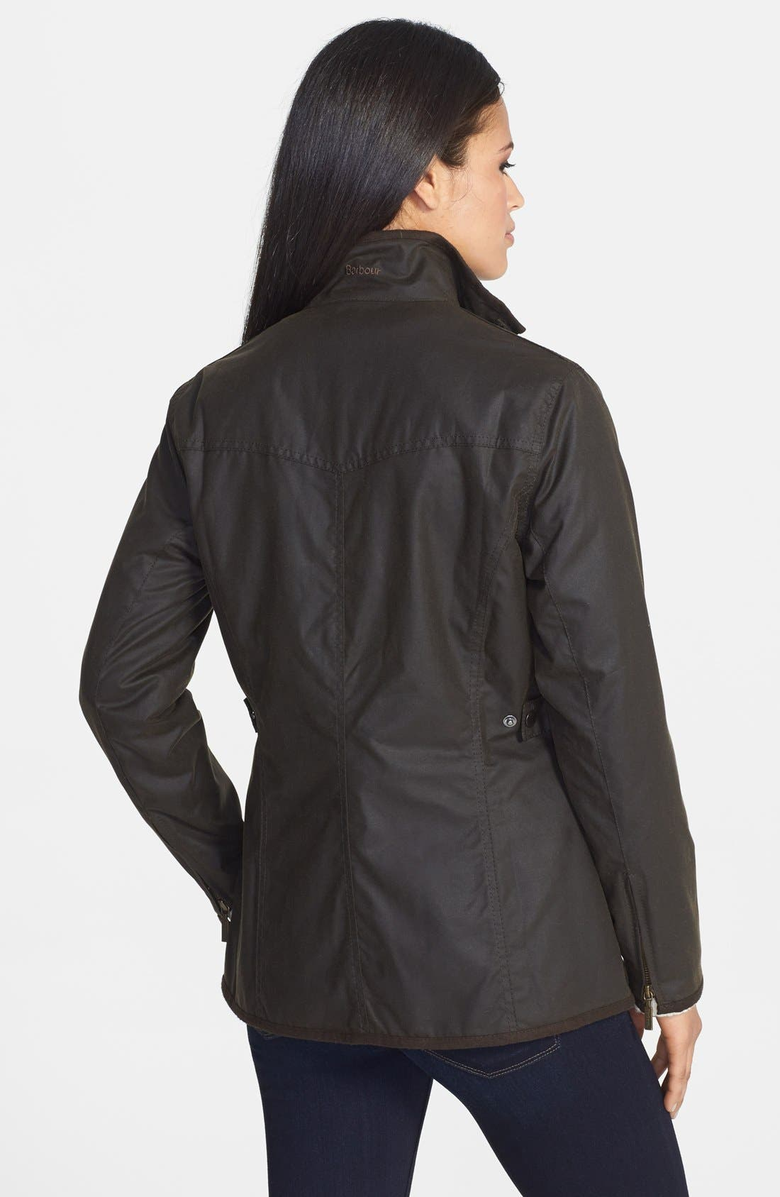 Waxed Cotton Utility Jacket,                             Alternate thumbnail 2, color,                             340