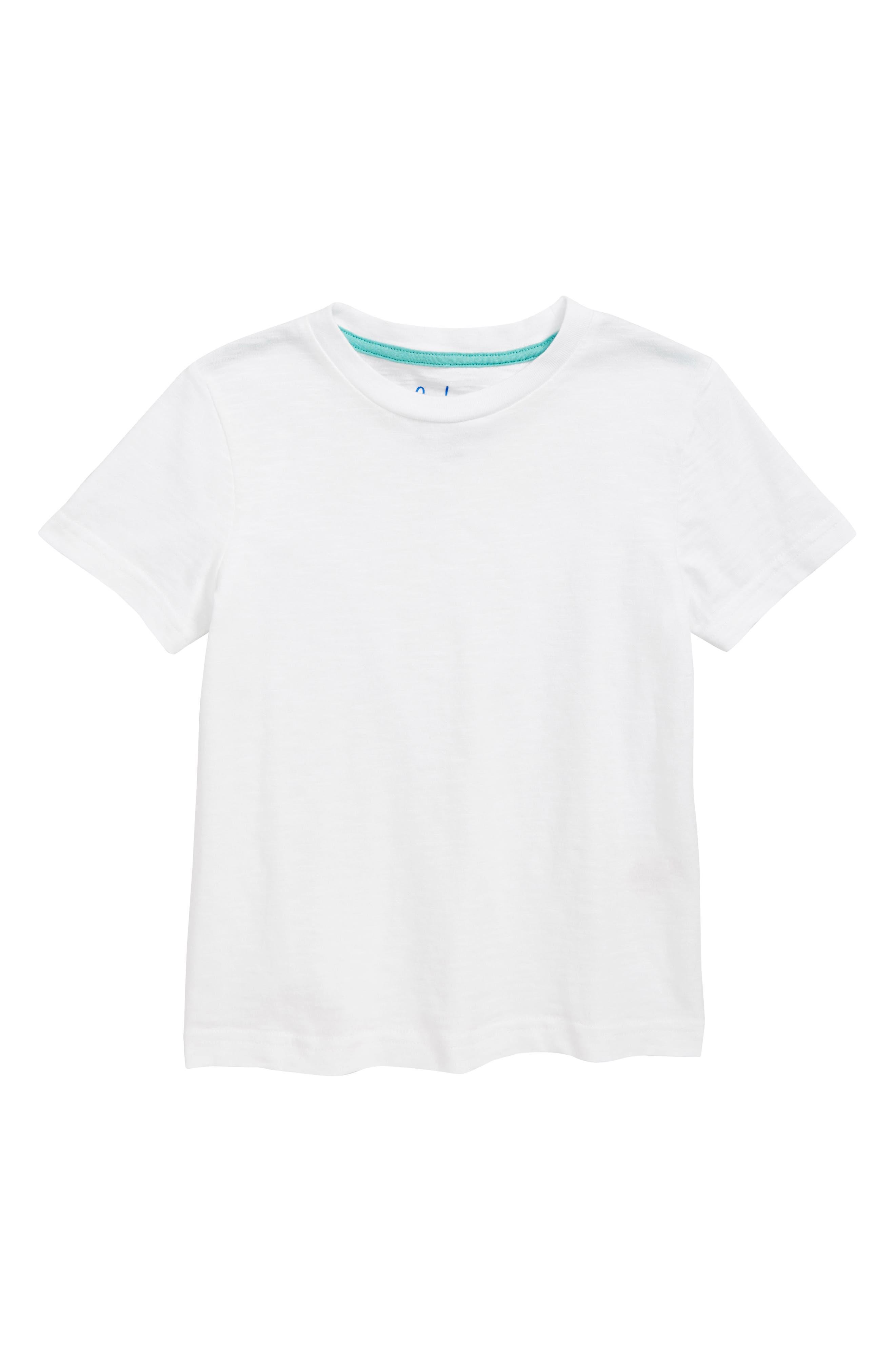 Slub Knit T-Shirt,                         Main,                         color, WHITE