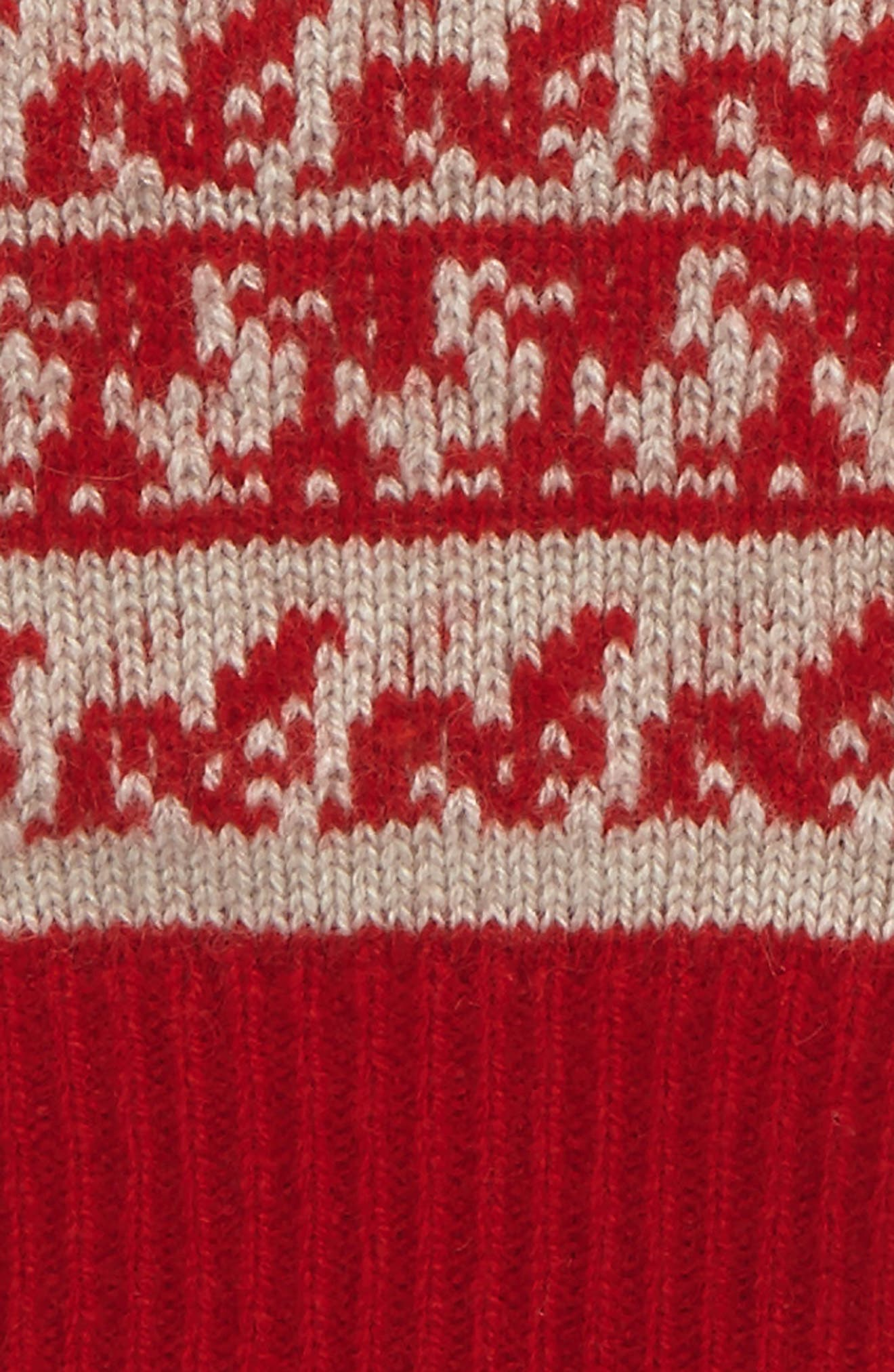 Fair Isle Cashmere & Wool Fingerless Gloves,                             Alternate thumbnail 2, color,                             600