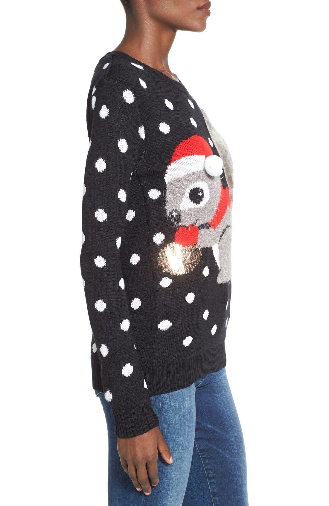 TEN SIXTY SHERMAN,                             Squirrel Christmas Sweater,                             Alternate thumbnail 2, color,                             001