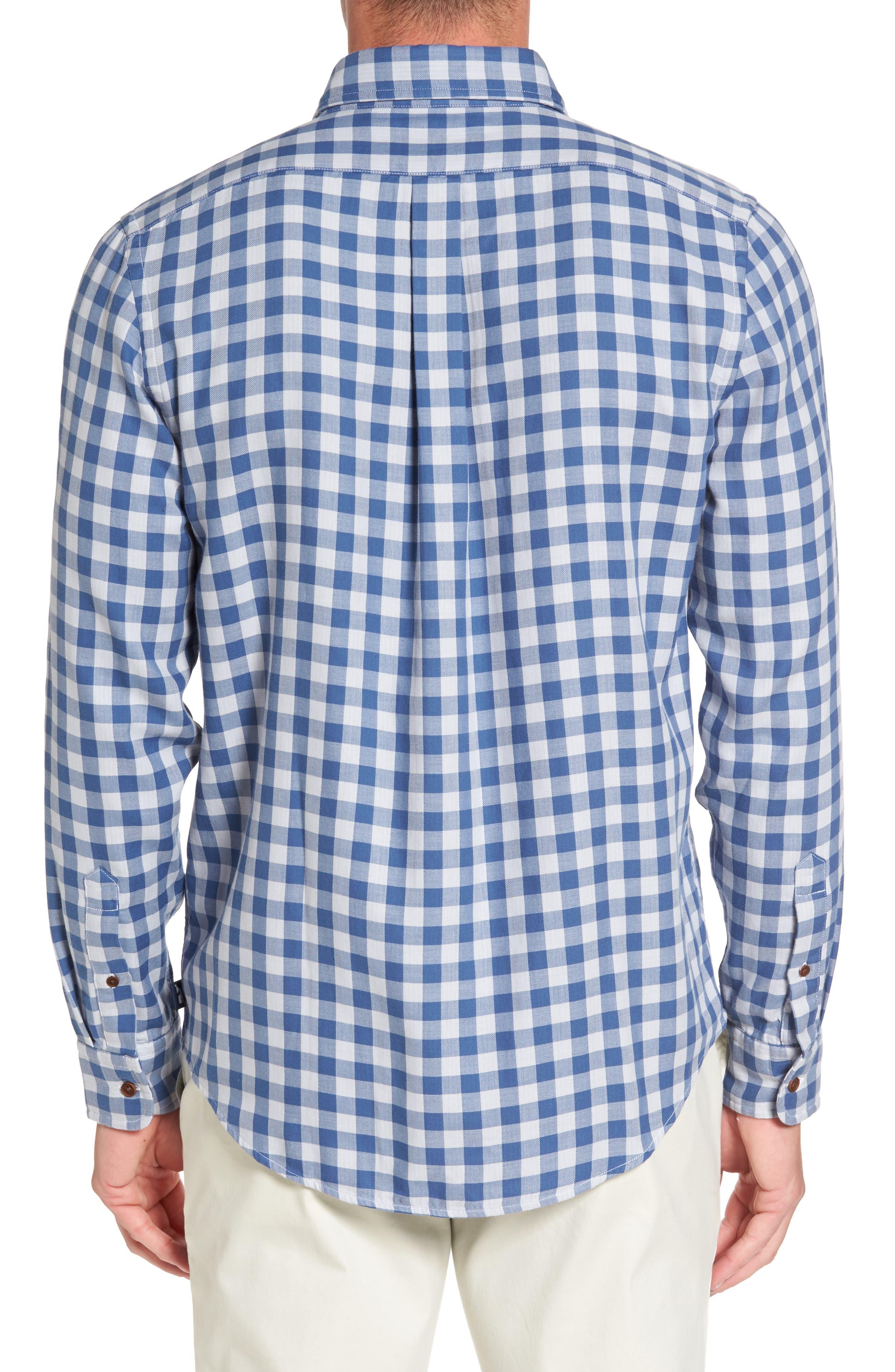 Crosby Slim Blue Heron Gingham Sport Shirt,                             Alternate thumbnail 2, color,                             461