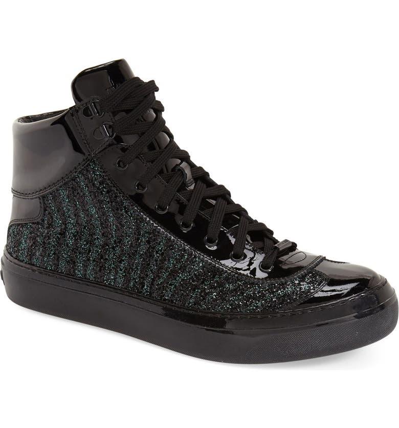 86be4d94c22 Jimmy Choo Glitter High Top Sneaker (Men)