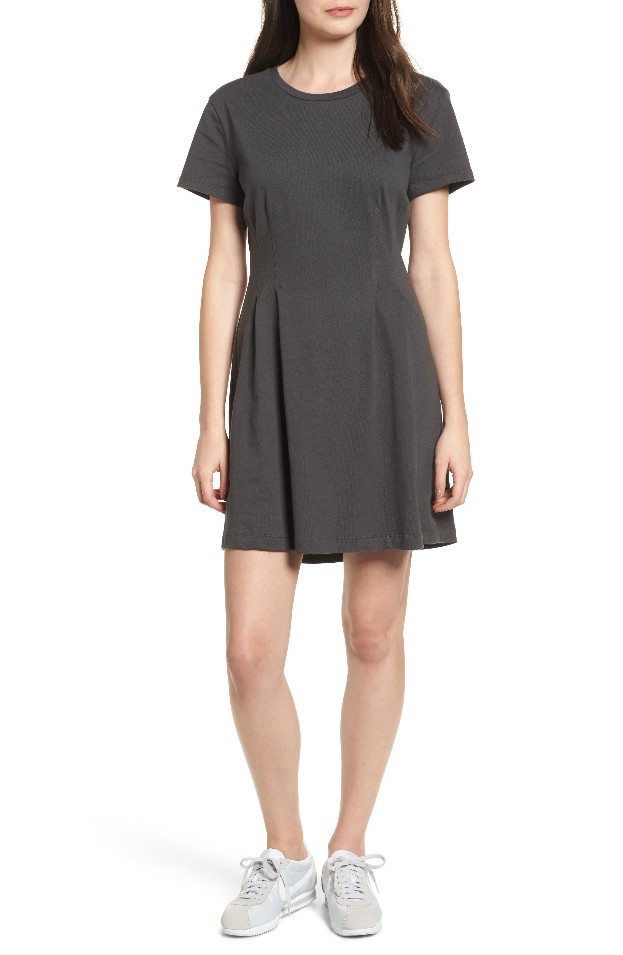 Cotton T-Shirt Dress,                             Main thumbnail 1, color,                             020