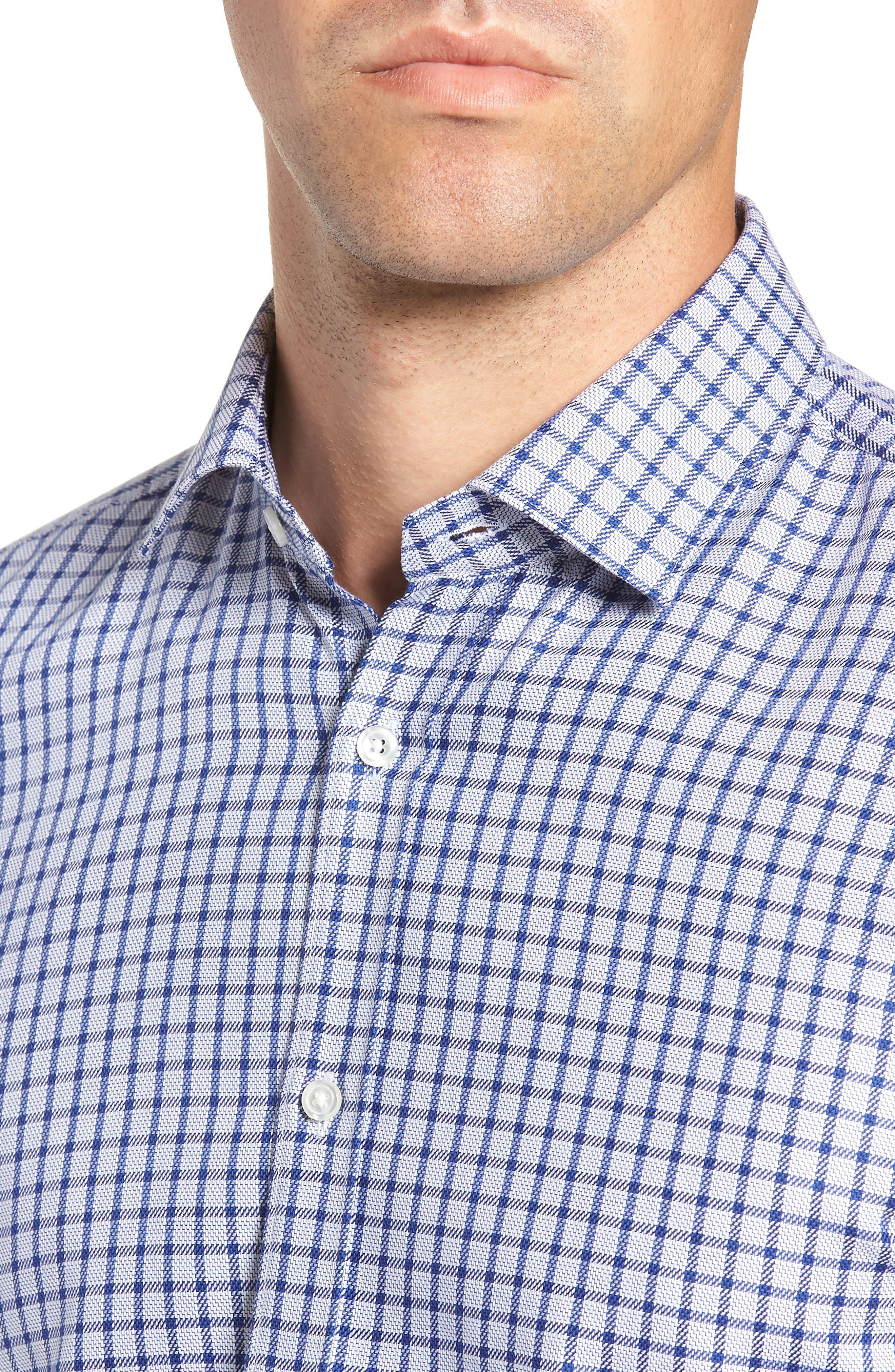 x Nordstrom Isaac Slim Fit Check Dress Shirt,                             Alternate thumbnail 2, color,                             BLUE