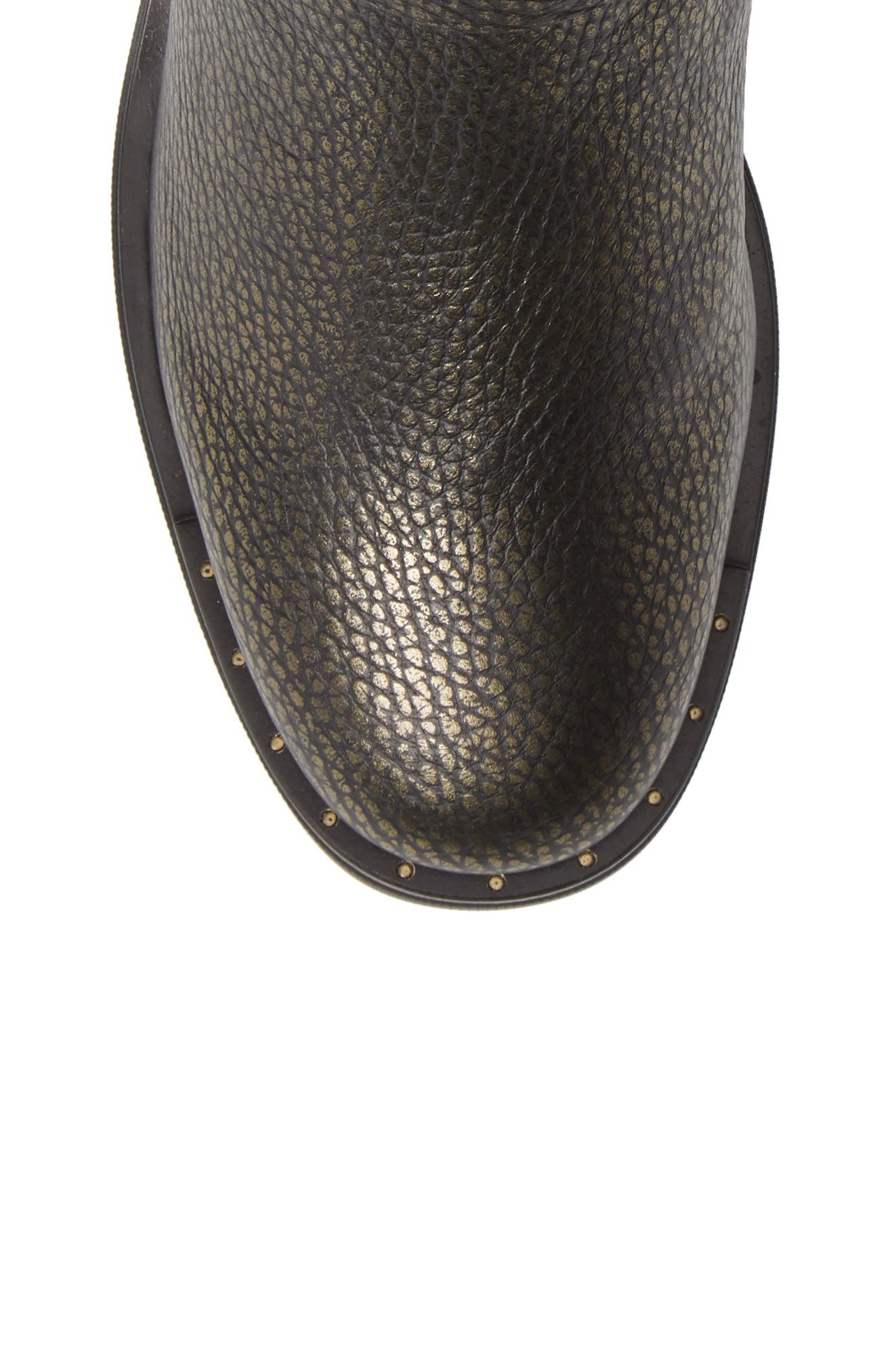 Via Moto Bootie,                             Alternate thumbnail 5, color,                             METAL ARMY LEATHER