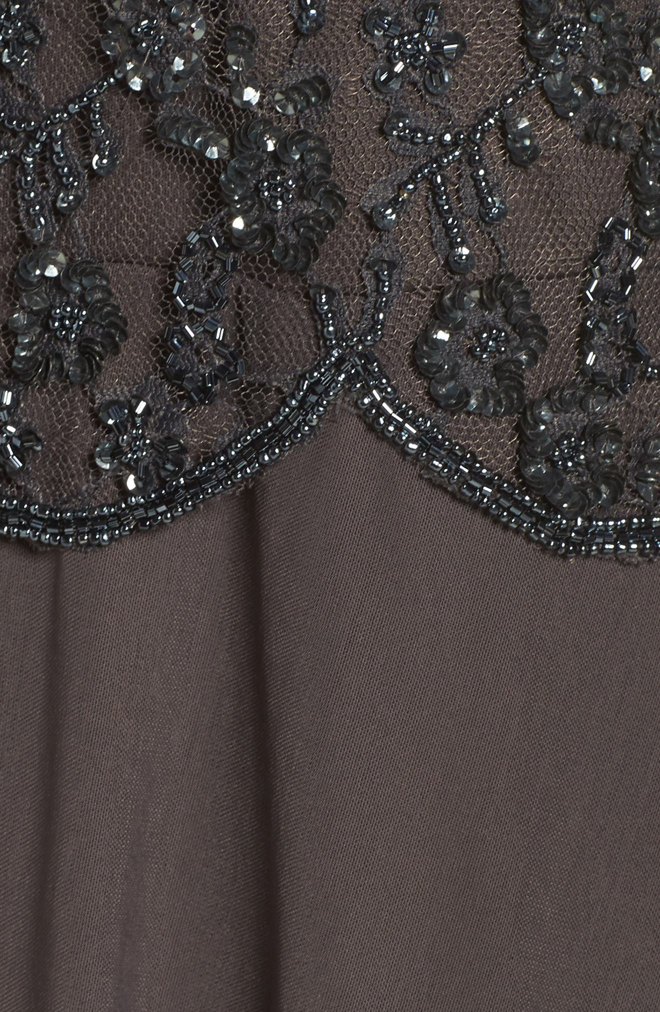 Embellished Mesh Gown,                             Alternate thumbnail 6, color,                             020