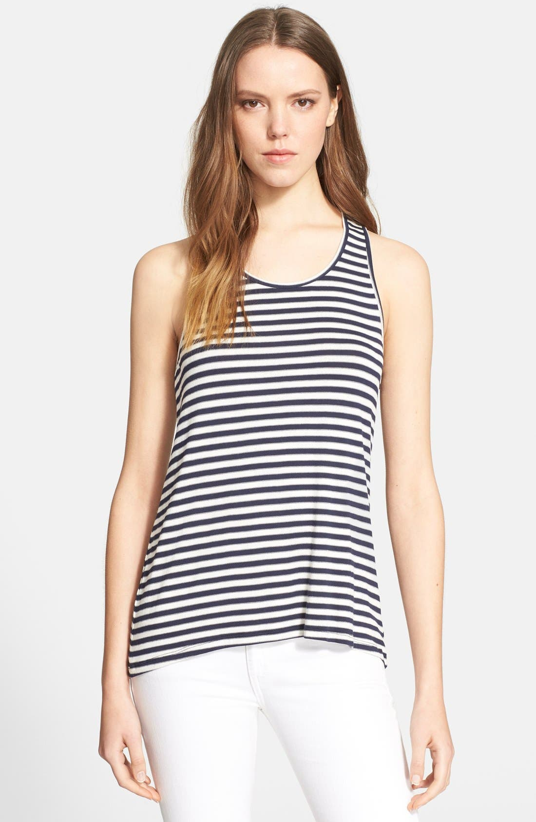 'Nea' Stripe Racerback Tank, Main, color, 457