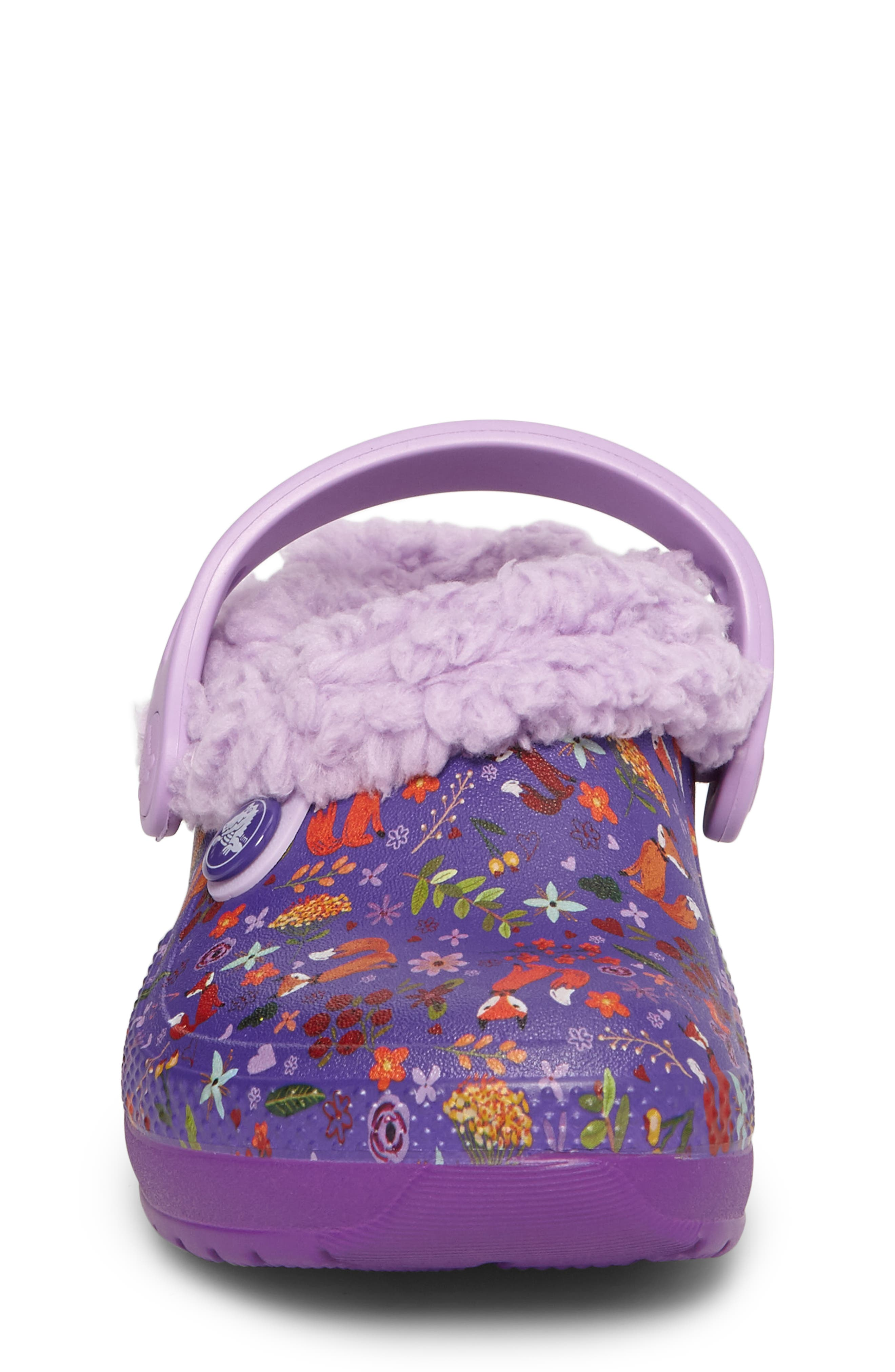 Classic Blitzen III Faux Fur Graphic Clog,                             Alternate thumbnail 4, color,                             538