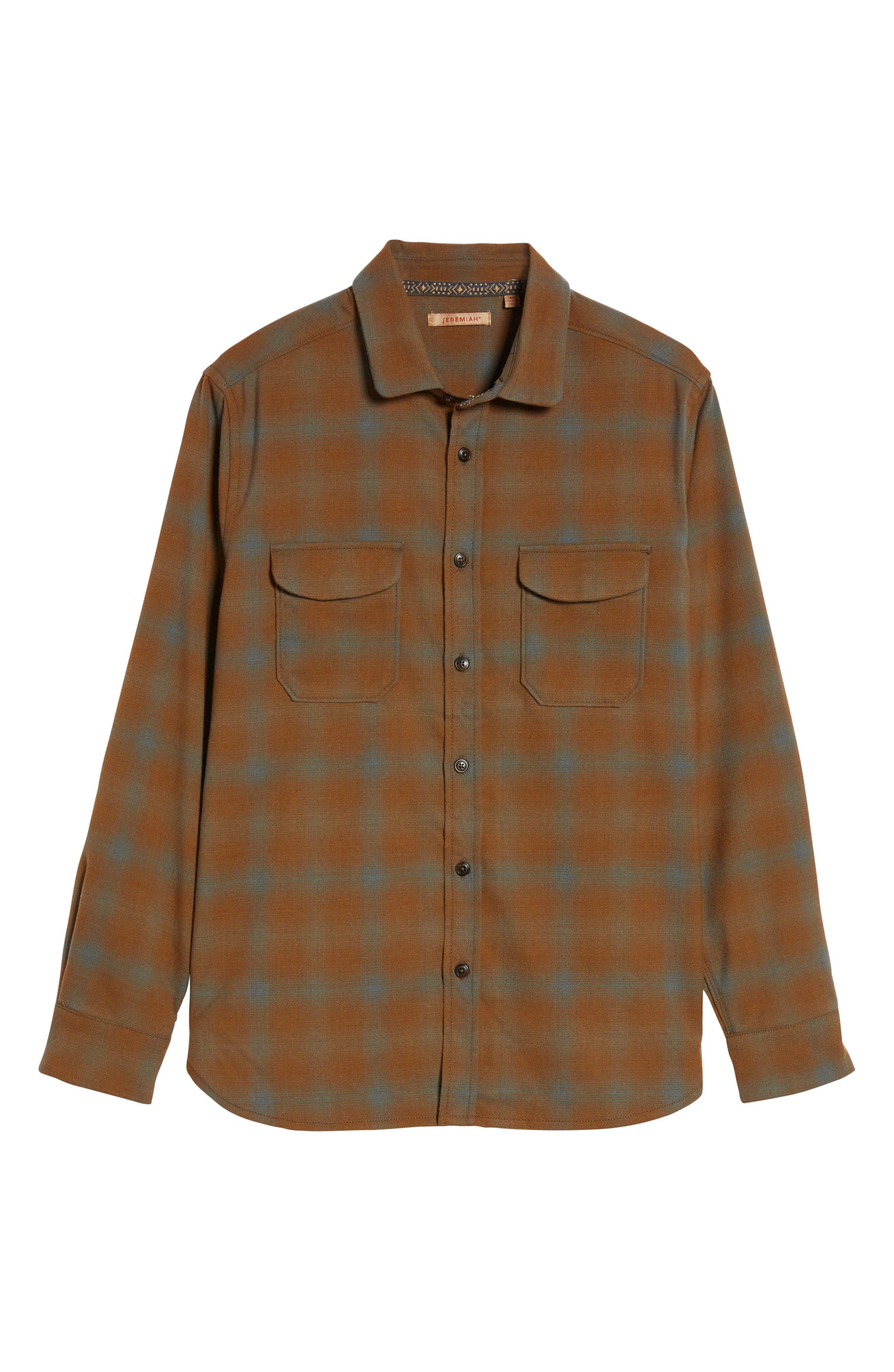 Peak Flannel Sport Shirt,                             Alternate thumbnail 6, color,                             215