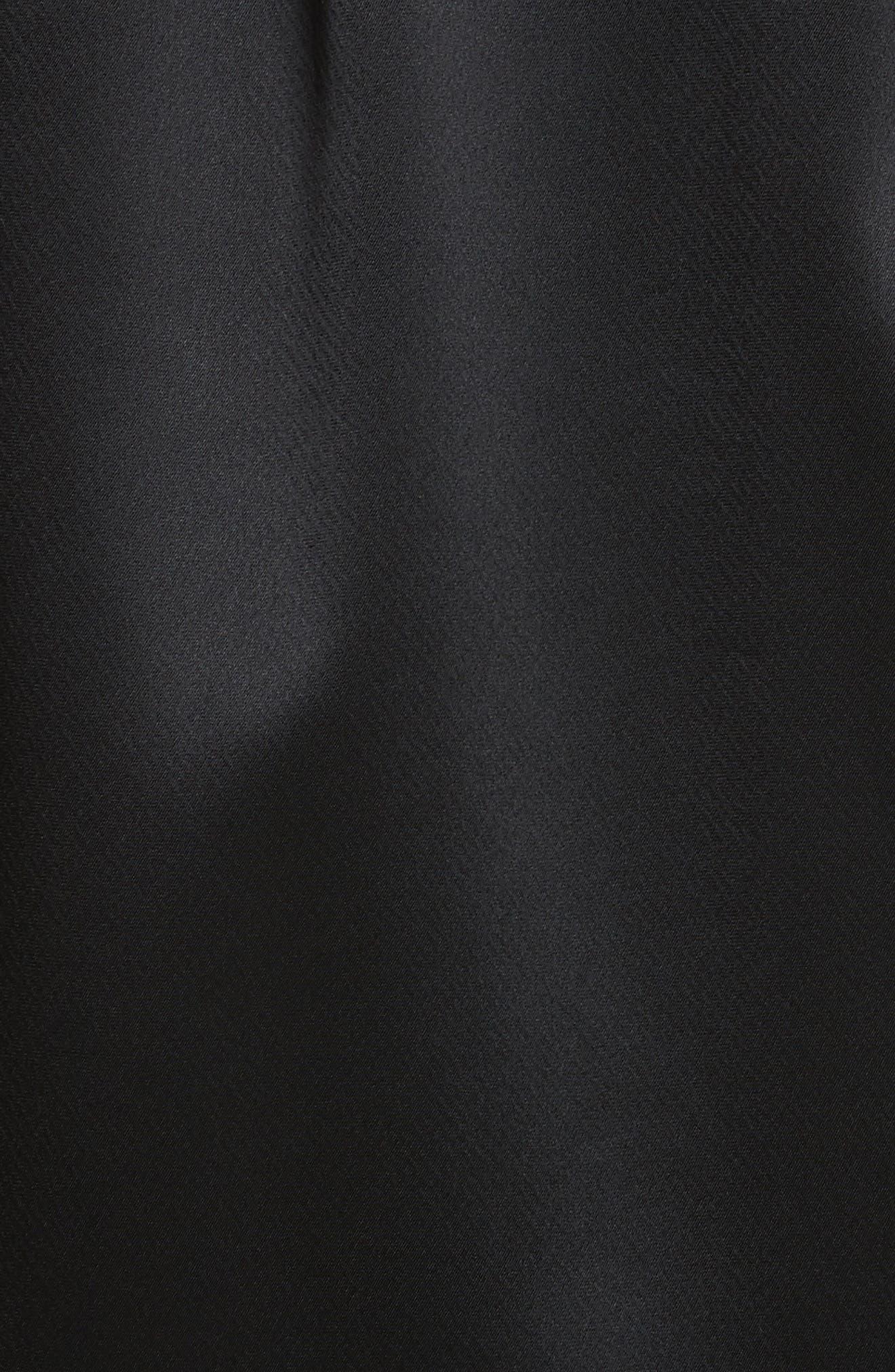 Brea Reverie Satin Cloth Bomber Jacket,                             Alternate thumbnail 6, color,                             001