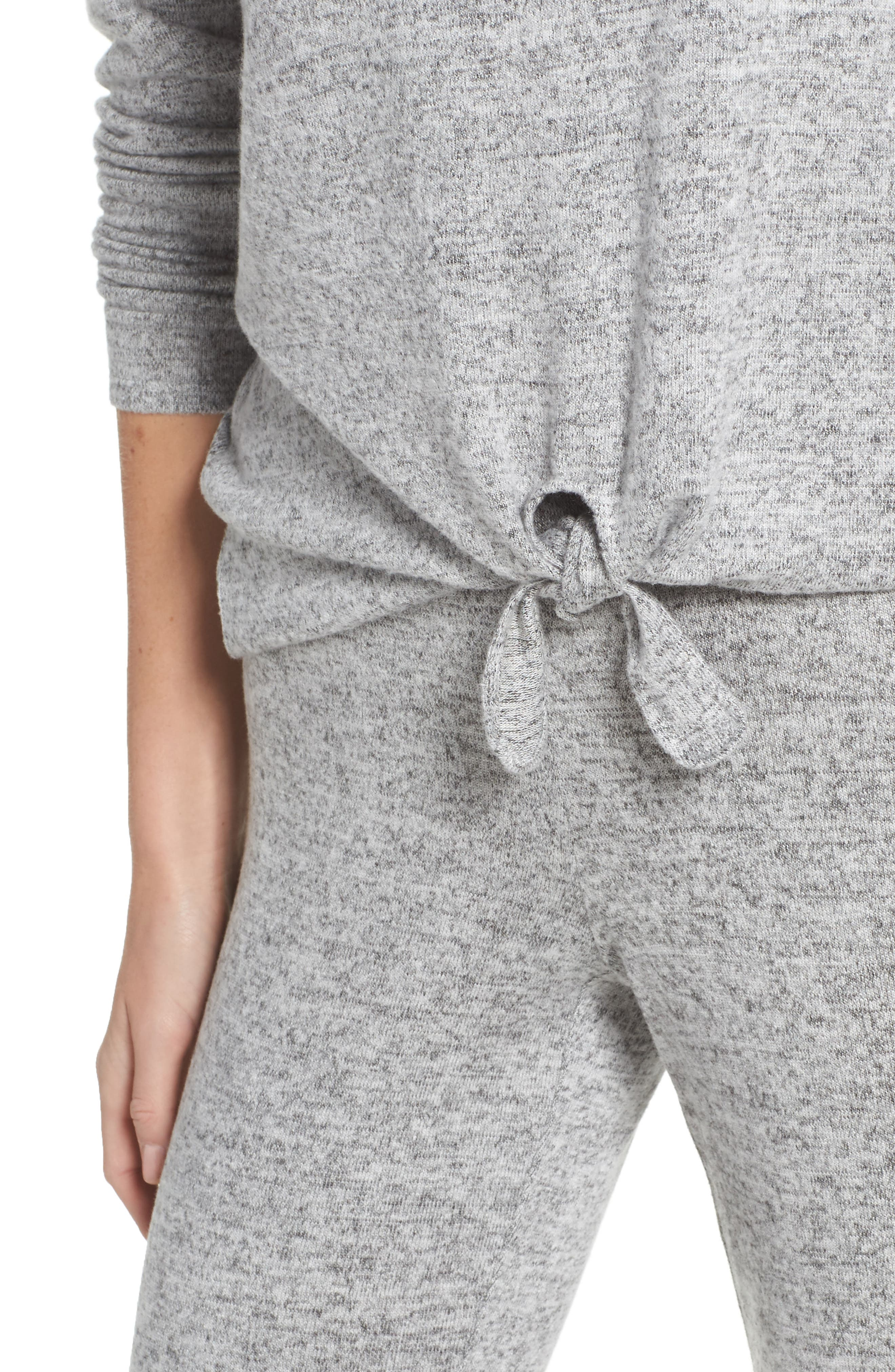 Tie Front Top,                             Alternate thumbnail 4, color,                             H GREY