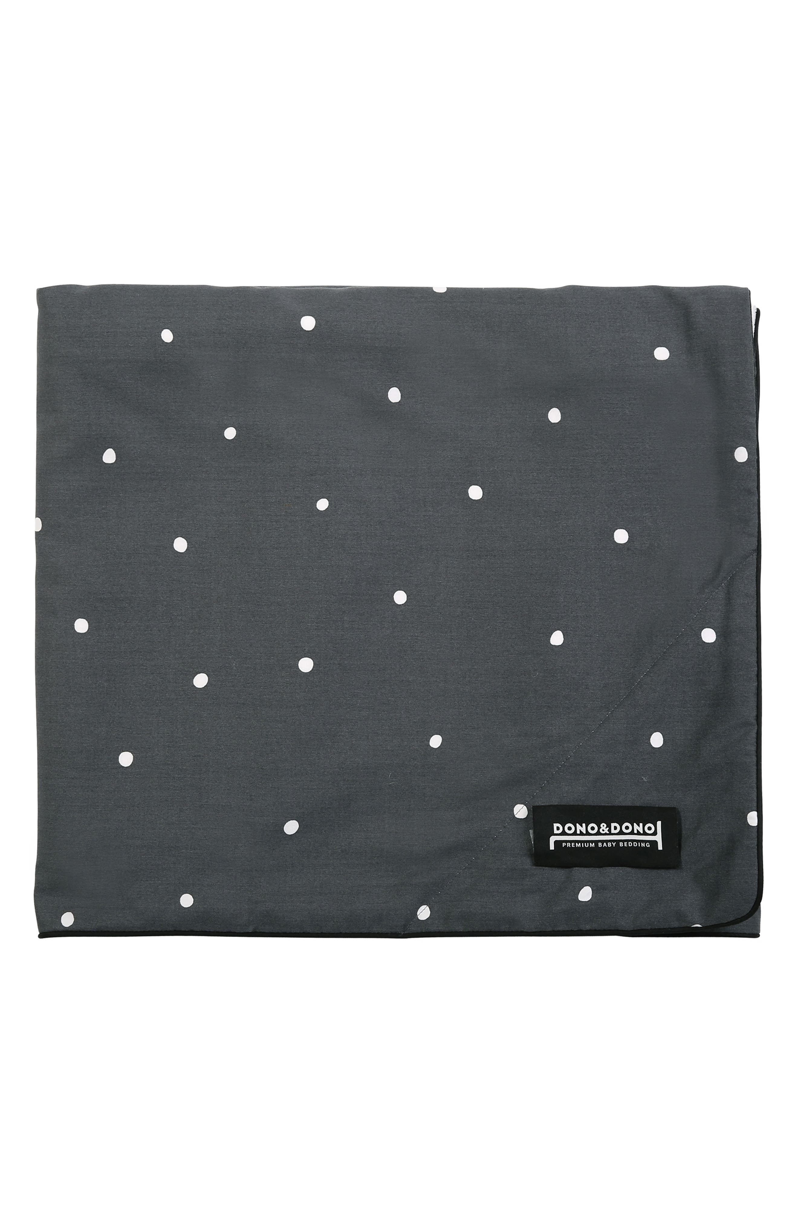 Classic All Seasons Blanket,                         Main,                         color, GREY DOT