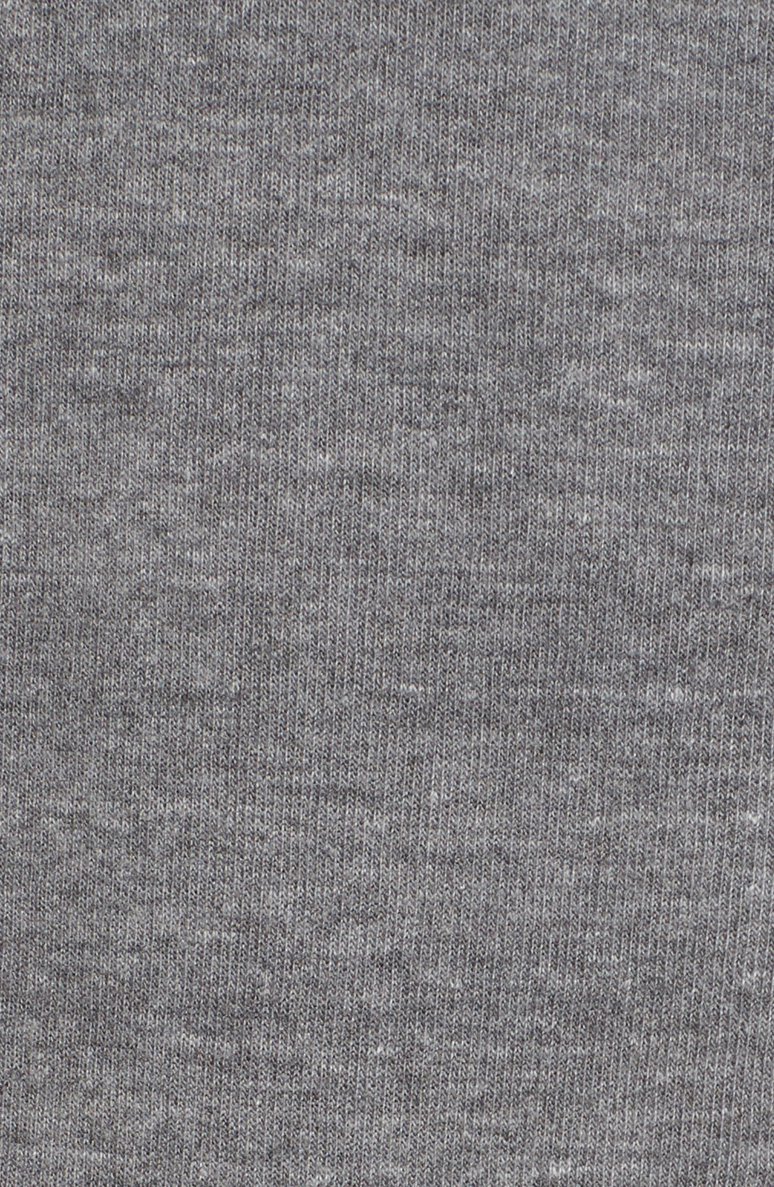 5-Stripe Zip Hoodie,                             Alternate thumbnail 6, color,                             HEATHER GREY/ BLUE STRIPES