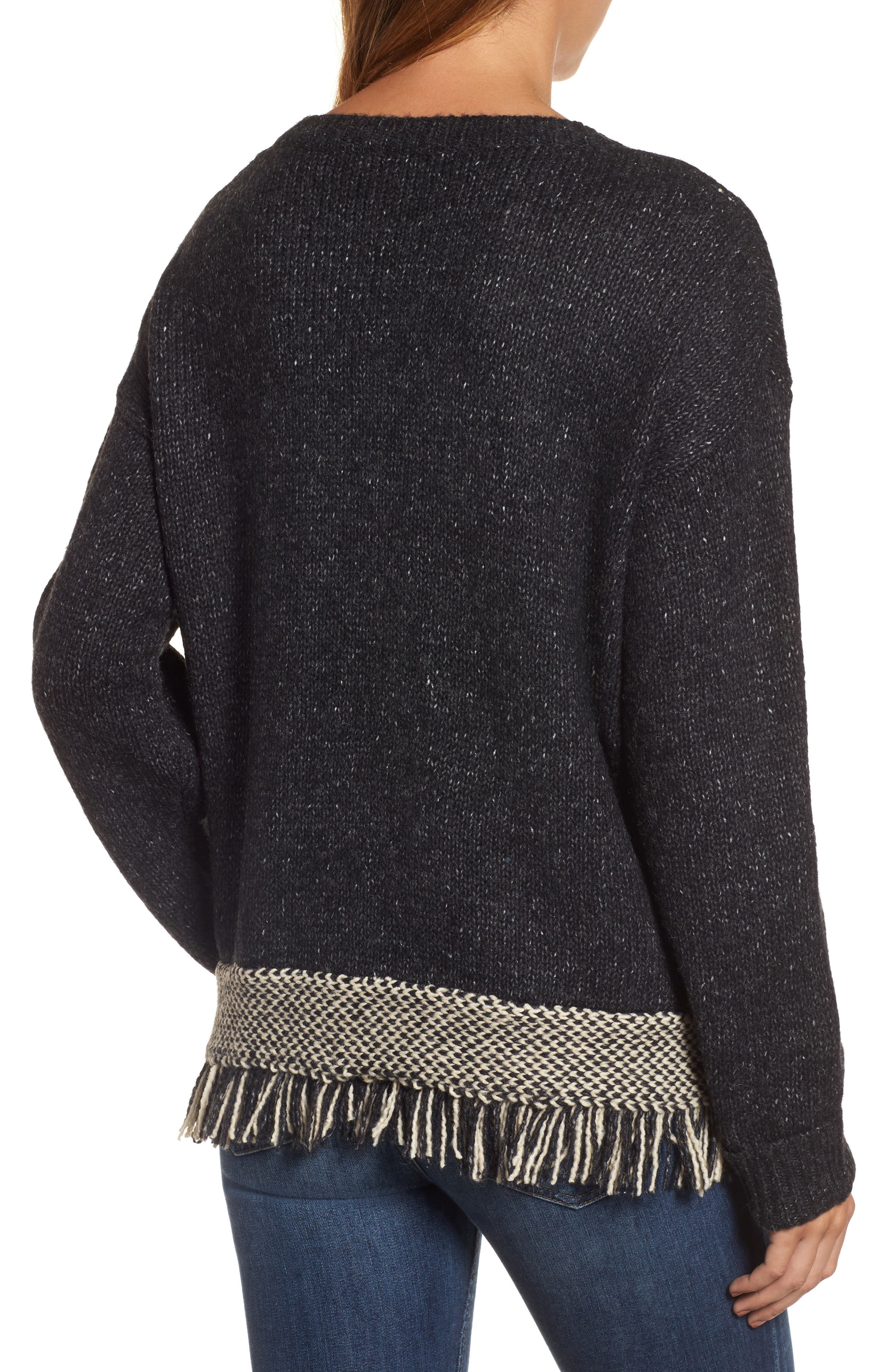 Fringe Sweater,                             Alternate thumbnail 5, color,