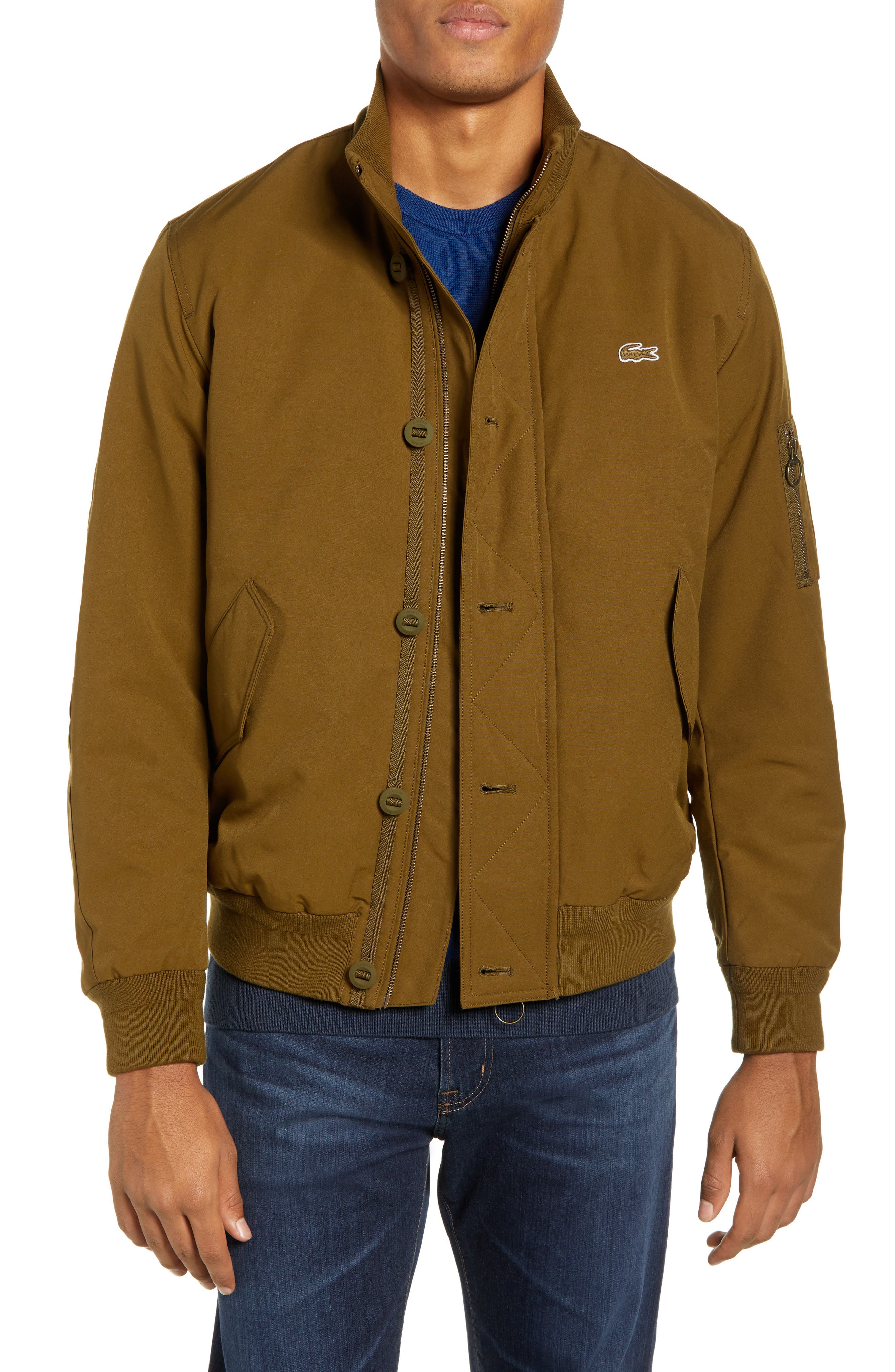 Regular Fit Water Resistant Bomber Jacket,                             Main thumbnail 1, color,                             UXF SOLDIER