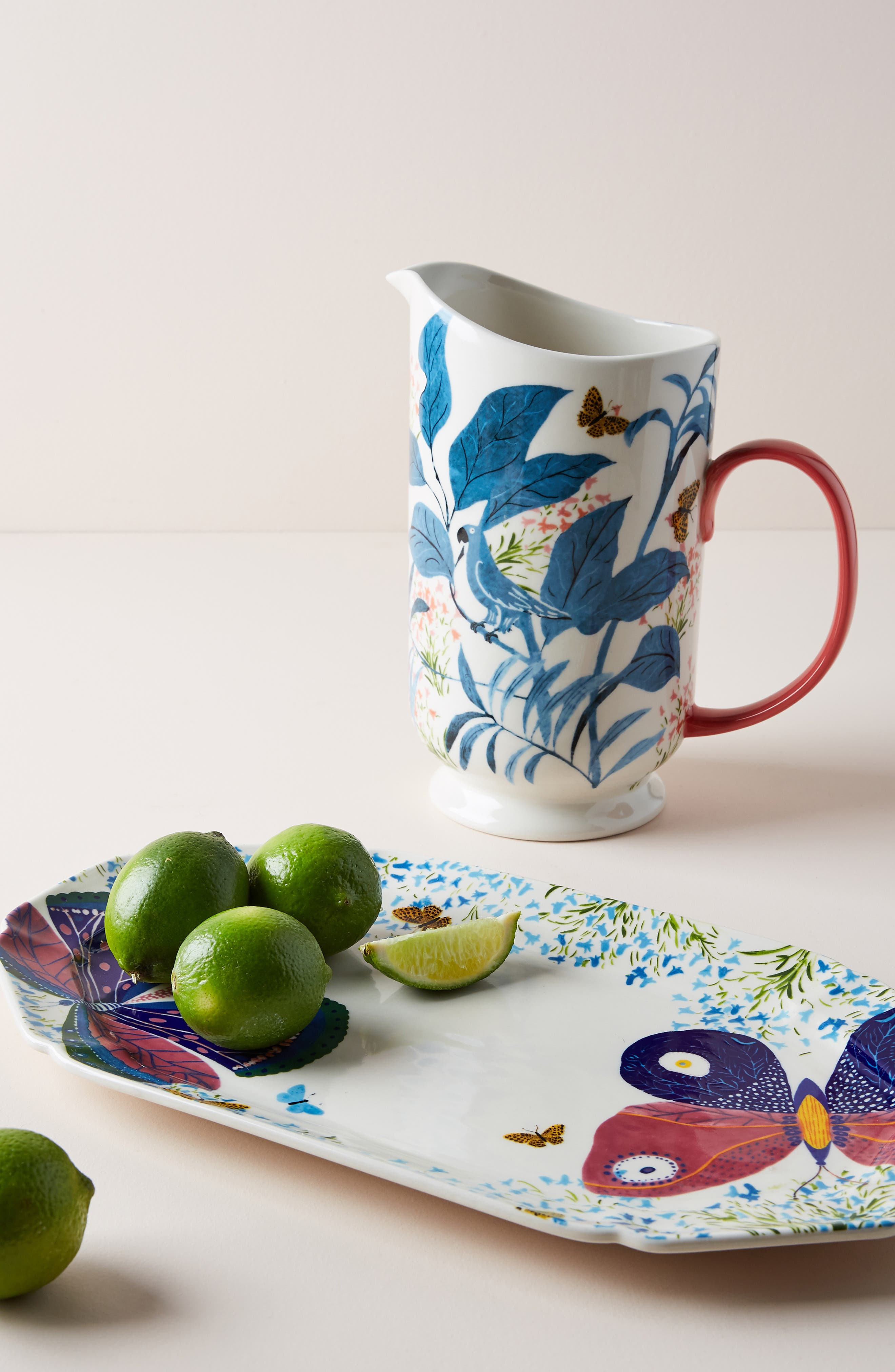ANTHROPOLOGIE,                             Paule Marrot Butterfly Pitcher,                             Alternate thumbnail 4, color,                             BLUE