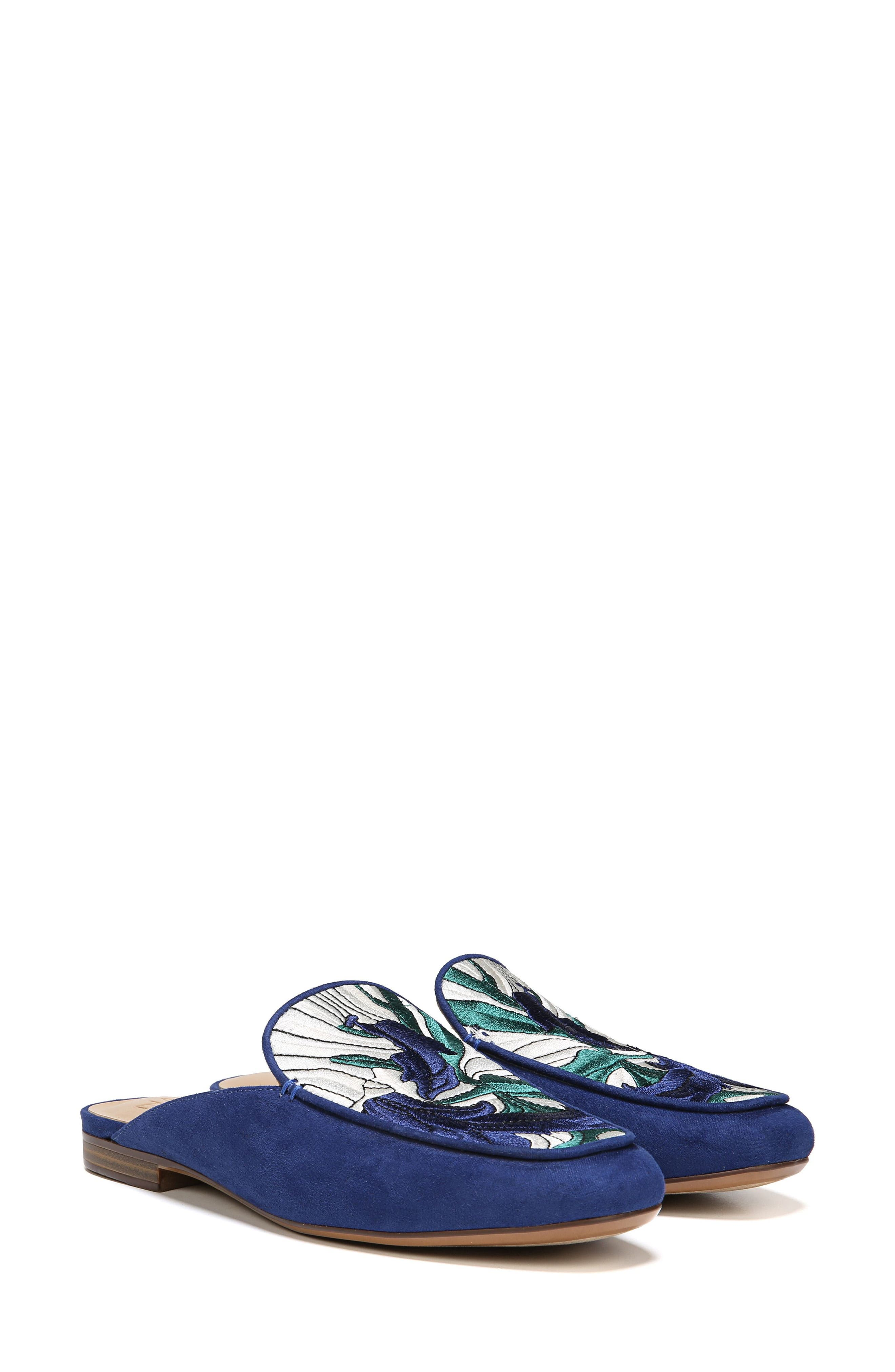 NATURALIZER,                             Eden II Embroidered Mule,                             Alternate thumbnail 8, color,                             SAPPHIRE FABRIC